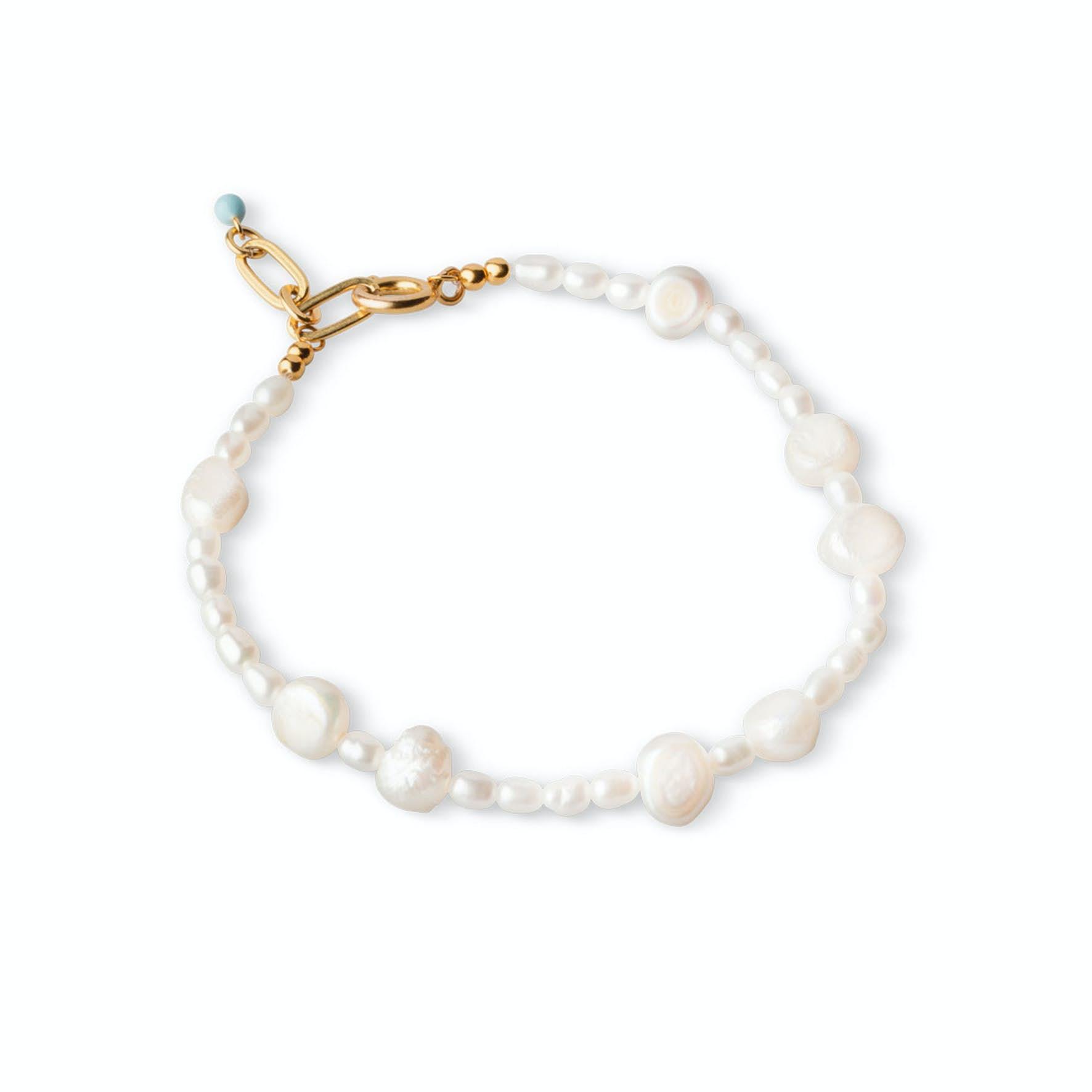 Pearlie Bracelet fra Enamel Copenhagen i Forgylt-Sølv Sterling 925