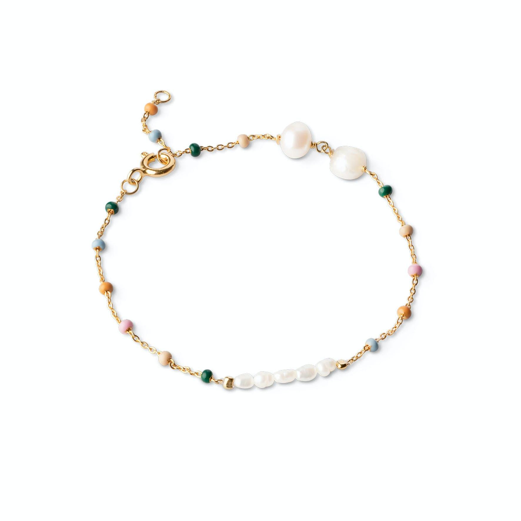 Lola Perla Bracelet Dreamy Pearl fra Enamel Copenhagen i Forgyldt-Sølv Sterling 925