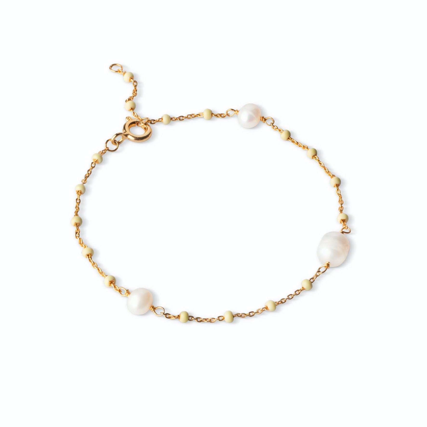 Lola Perlita Bracelet Lemone Pearl von Enamel Copenhagen in Vergoldet-Silber Sterling 925