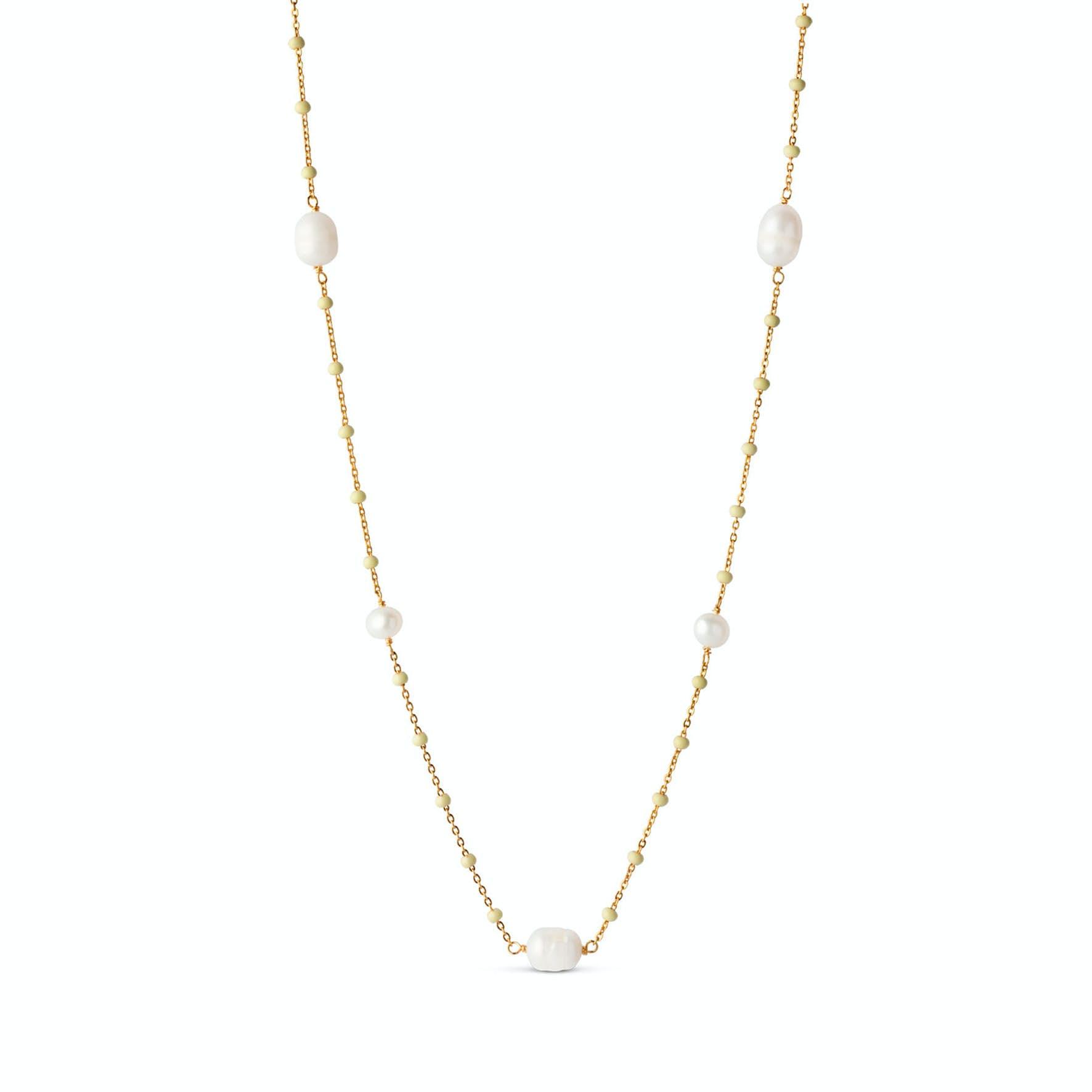Lola Perlita Necklace Lemone Pearl from Enamel Copenhagen in Goldplated-Silver Sterling 925