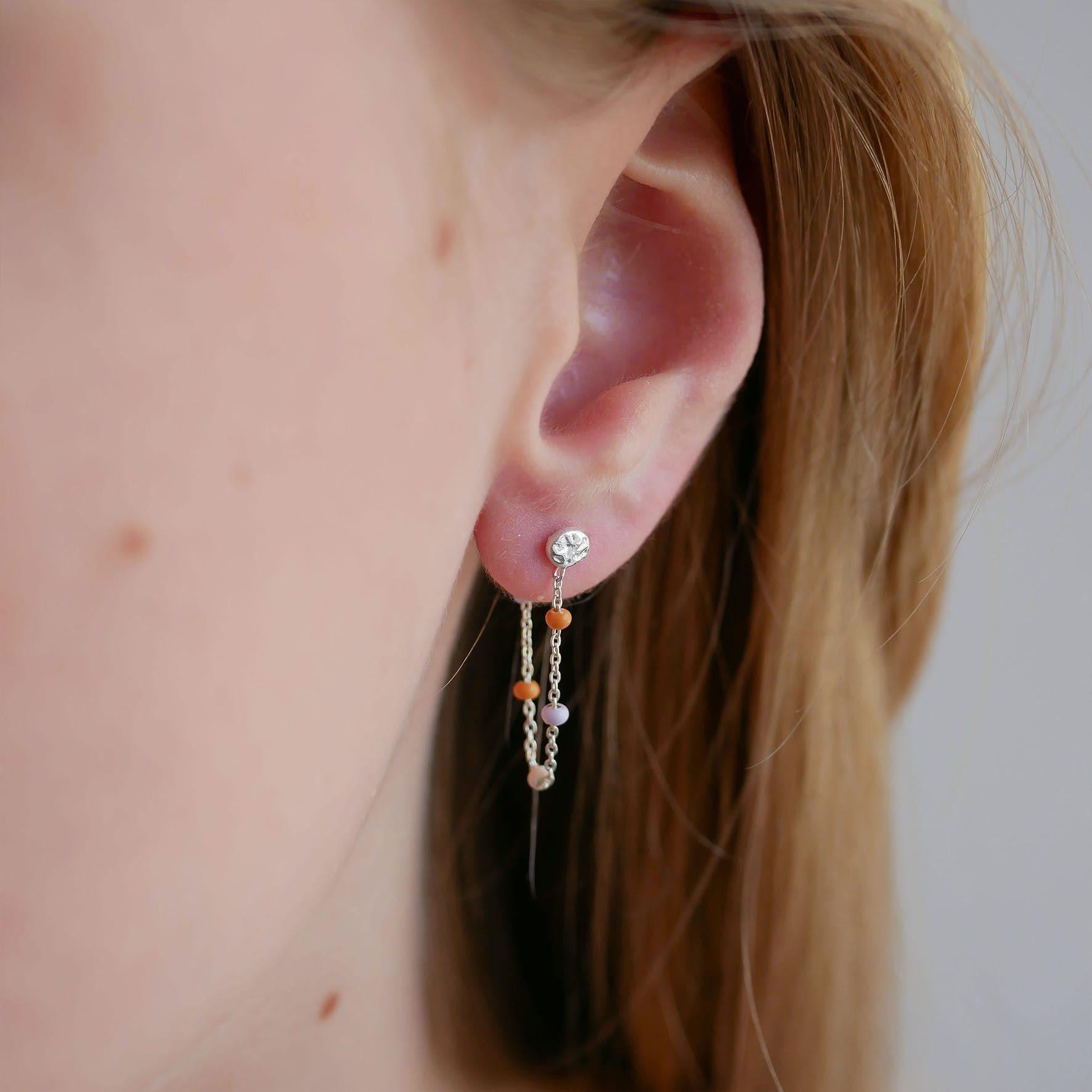 Lola Earrings Heavenly fra Enamel Copenhagen i Sølv Sterling 925