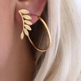 Six Leaves Earring Piece Left fra STINE A Jewelry i Forgyldt-Sølv Sterling 925