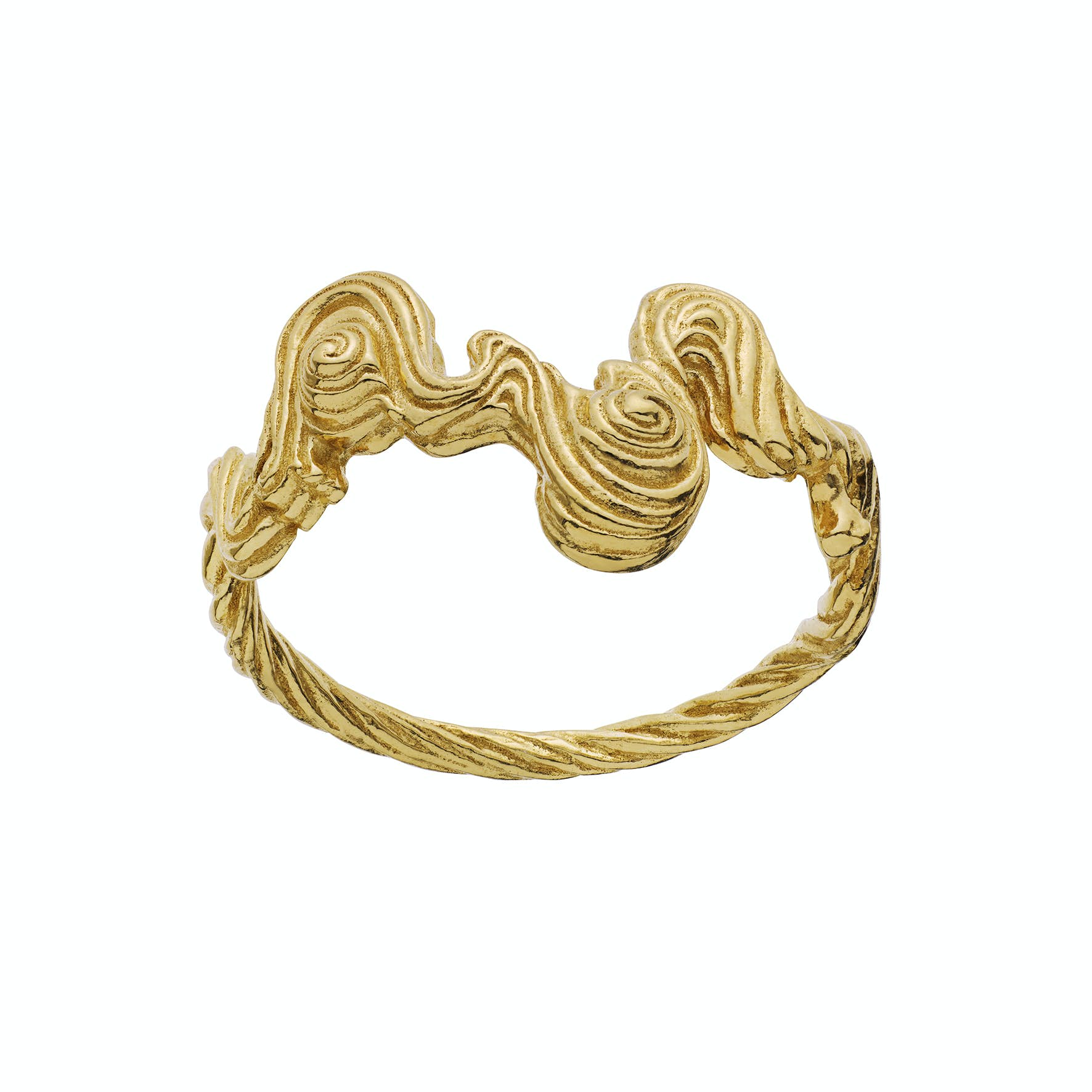 Leto Ring from Maanesten in Goldplated-Silver Sterling 925