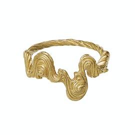 Leto Ring fra Maanesten i Forgyldt-Sølv Sterling 925