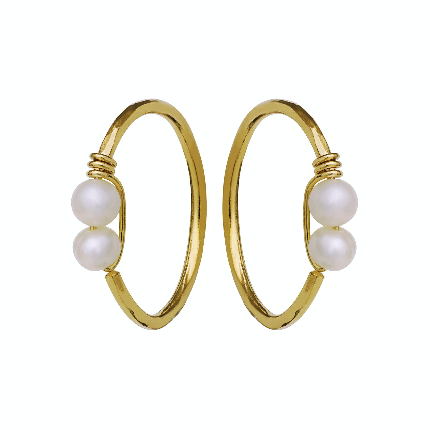 Donna Earrings from Maanesten in Goldplated-Silver Sterling 925|Freshwater Pearl