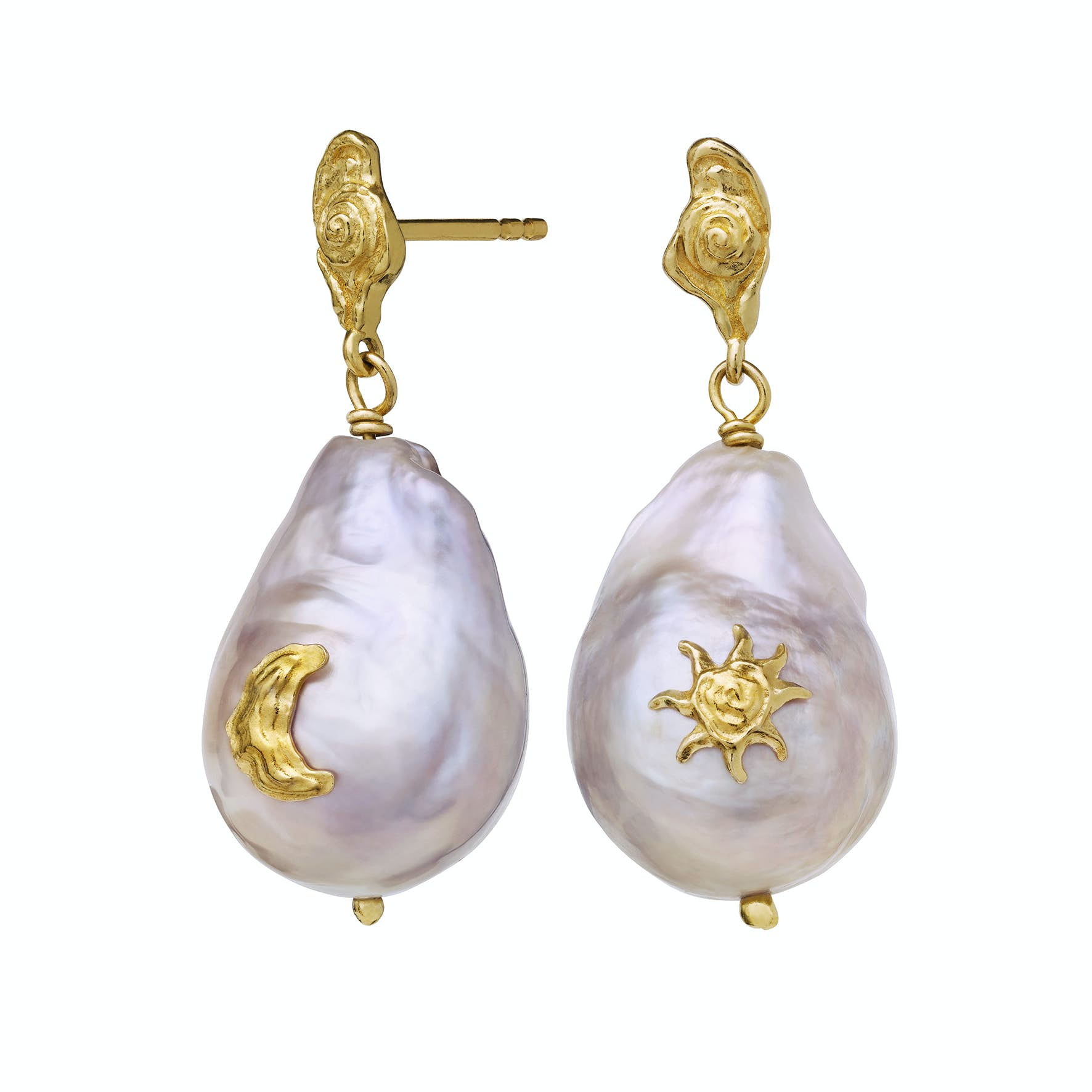 Claire Earrings från Maanesten i Förgyllt-Silver Sterling 925|Freshwater Pearl