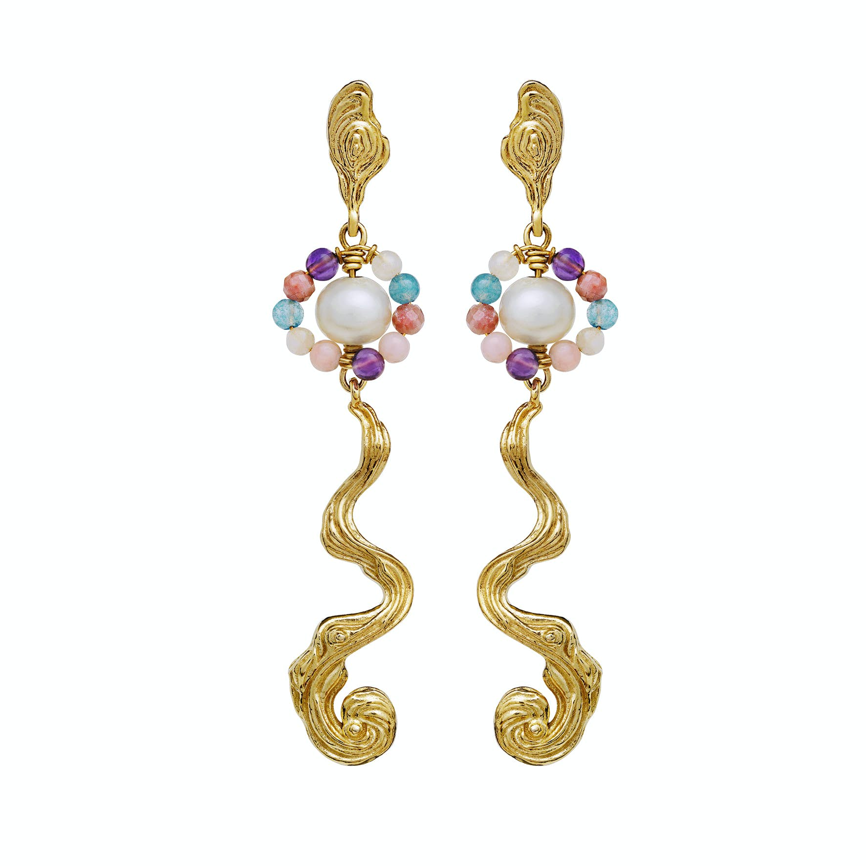 Parhelia Earrings von Maanesten in Vergoldet-Silber Sterling 925