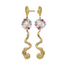 Parhelia Earrings from Maanesten in Goldplated-Silver Sterling 925
