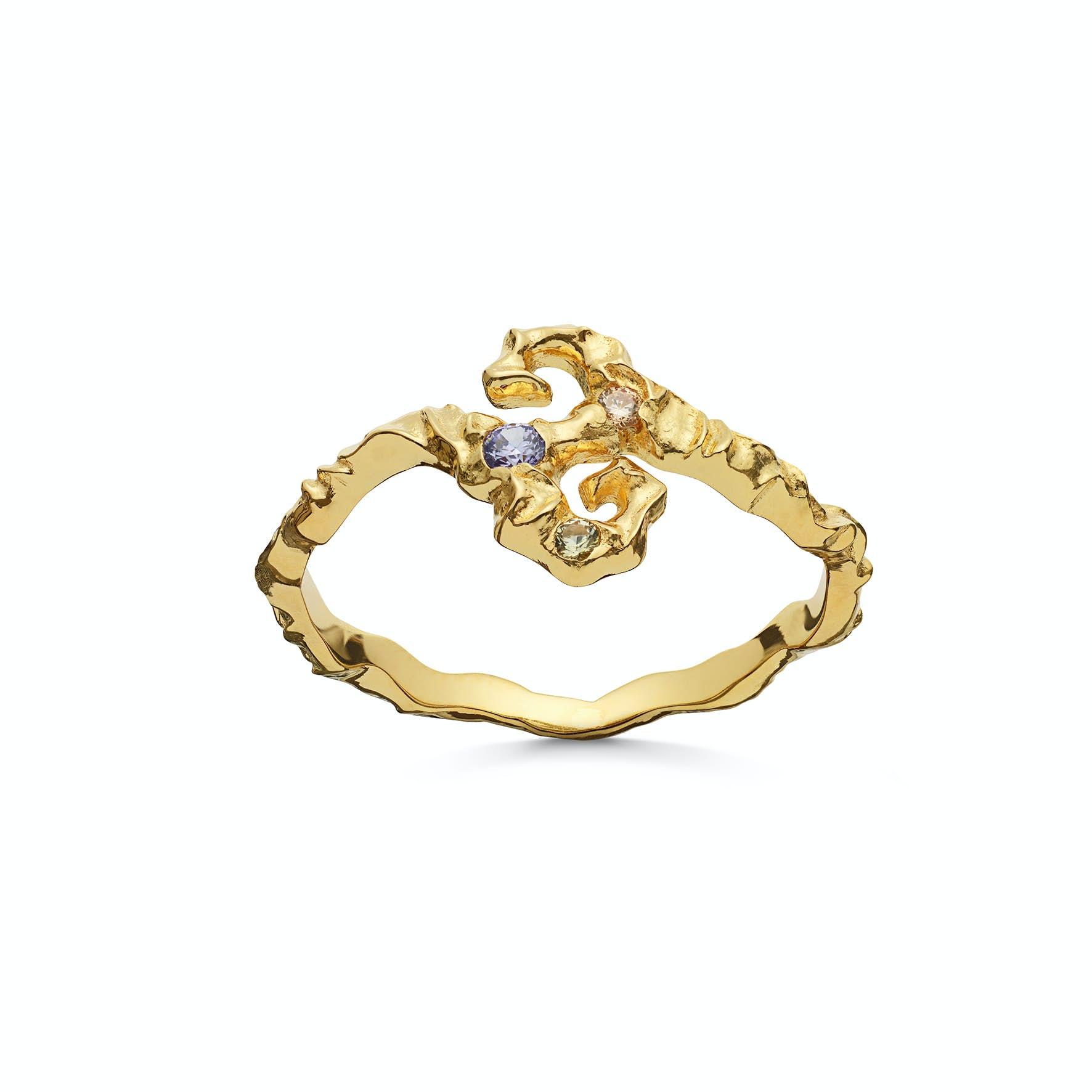 Tenti Ring von Maanesten in Vergoldet-Silber Sterling 925