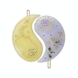 Yin Yang Hairclip Glitter Yellow and Lavender aus Maanesten