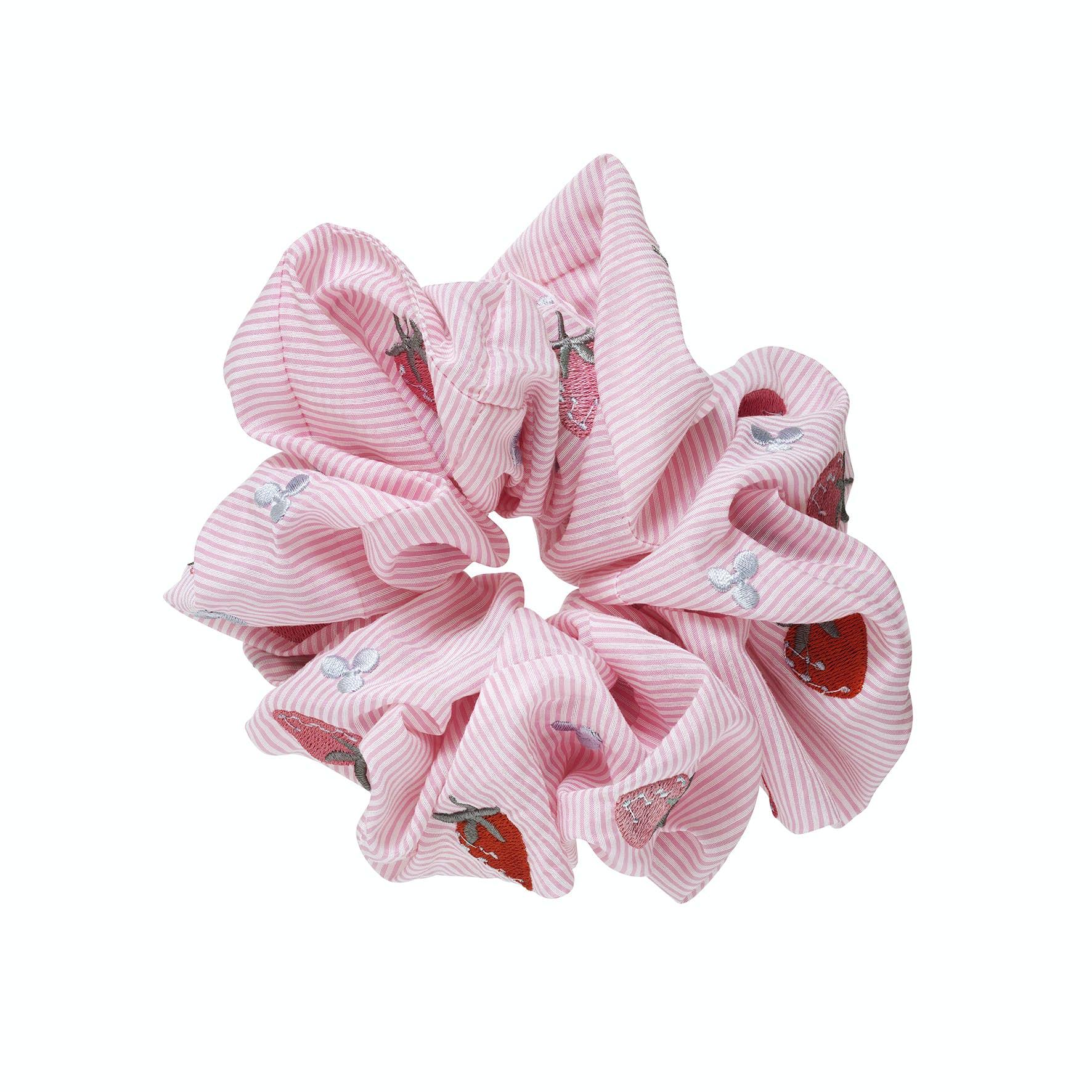 Lina Scrunchie Pink Stripe von Maanesten in Polyester