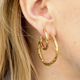 Petit Frigg Creols from Pico in Goldplated-Silver Sterling 925