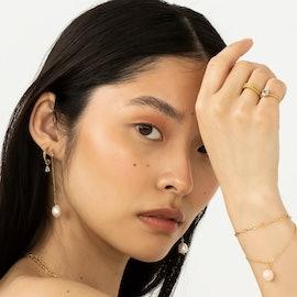 Gem Candy Long Chain Earring Aqua