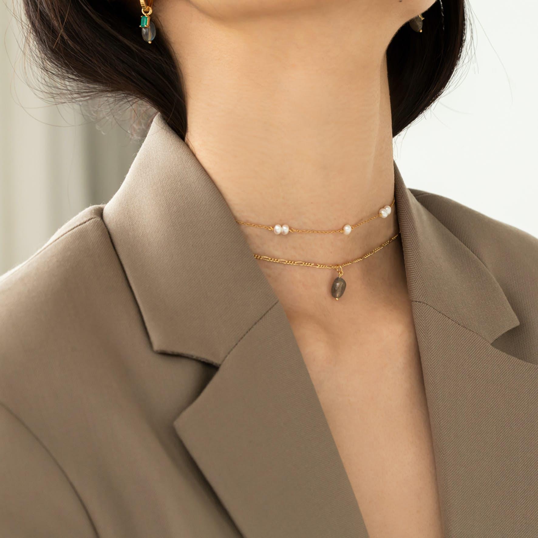 Archieve Pendant Confidence von Carré in Vergoldet-Silber Sterling 925