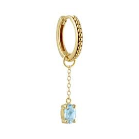 Gem Candy Earring Aqua Long