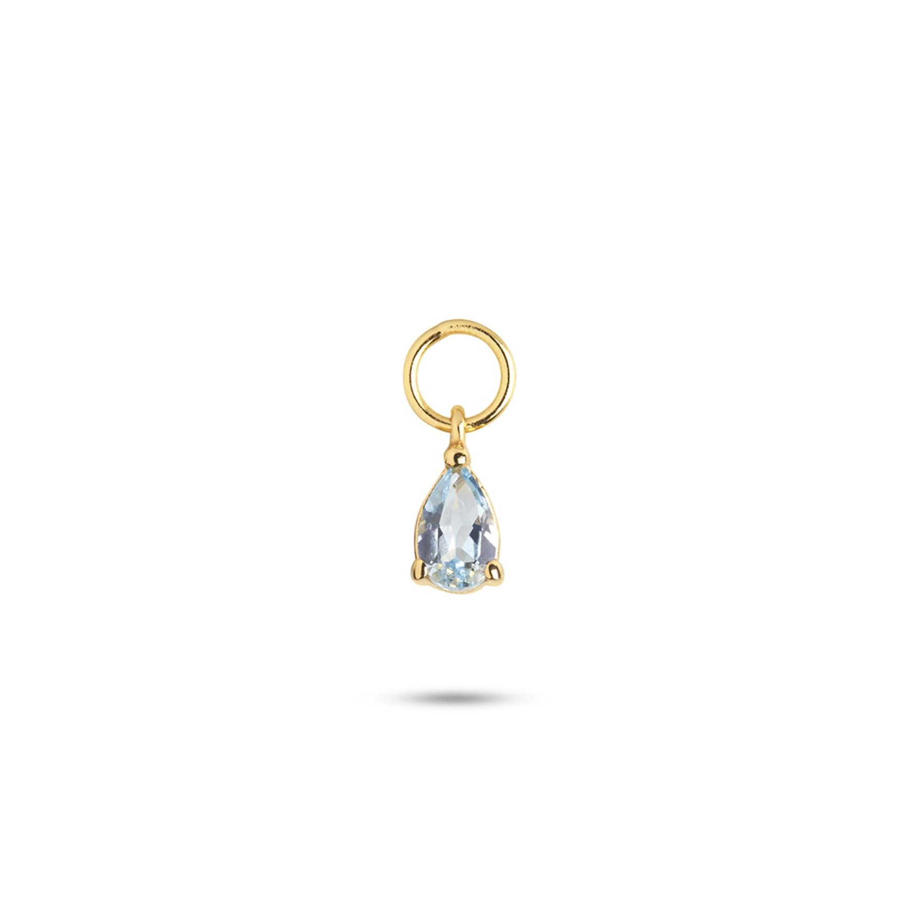 Gem Candy Pendant Aqua från Carré i Förgyllt-Silver Sterling 925