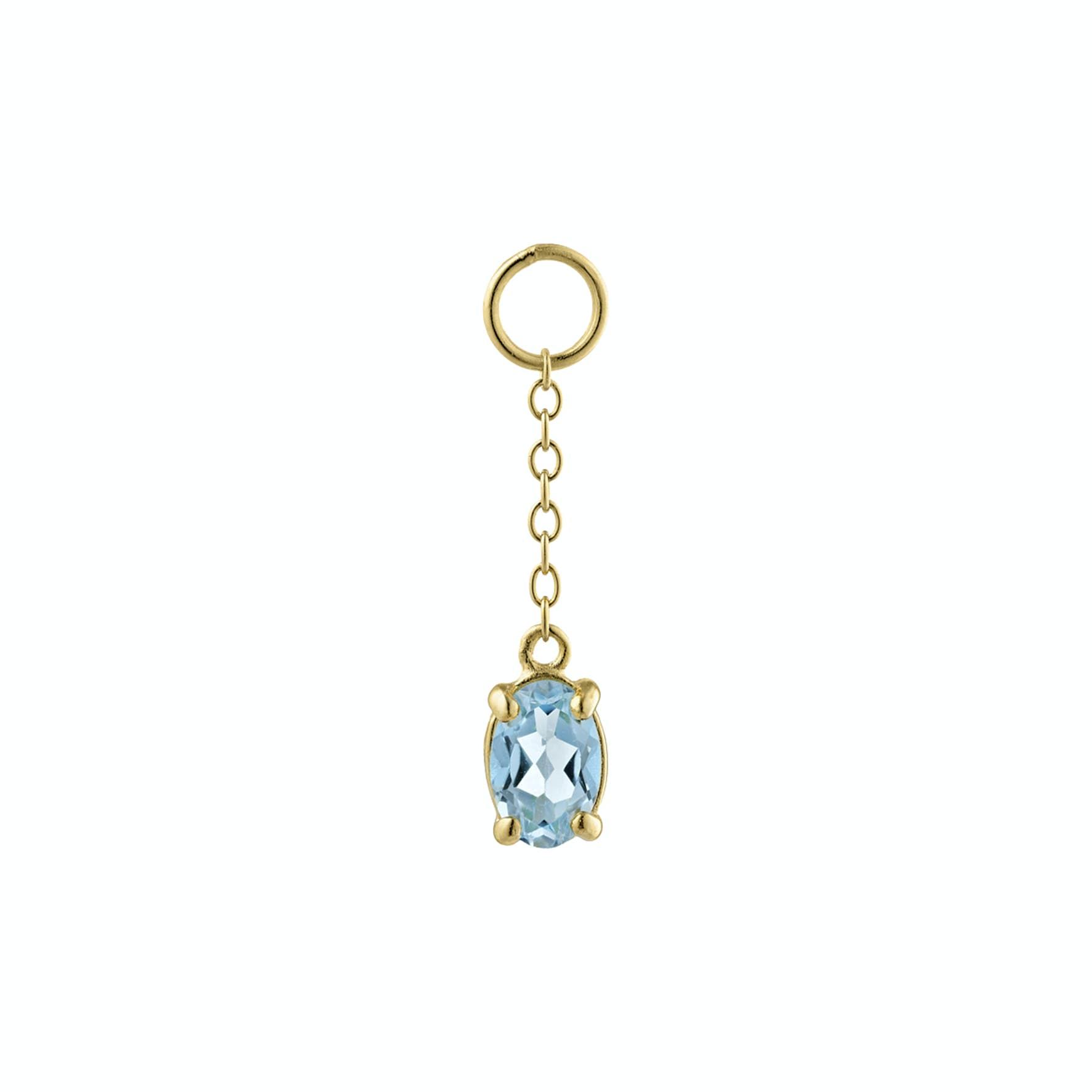 Gem Candy Pendant Aqua Long från Carré i Förgyllt-Silver Sterling 925
