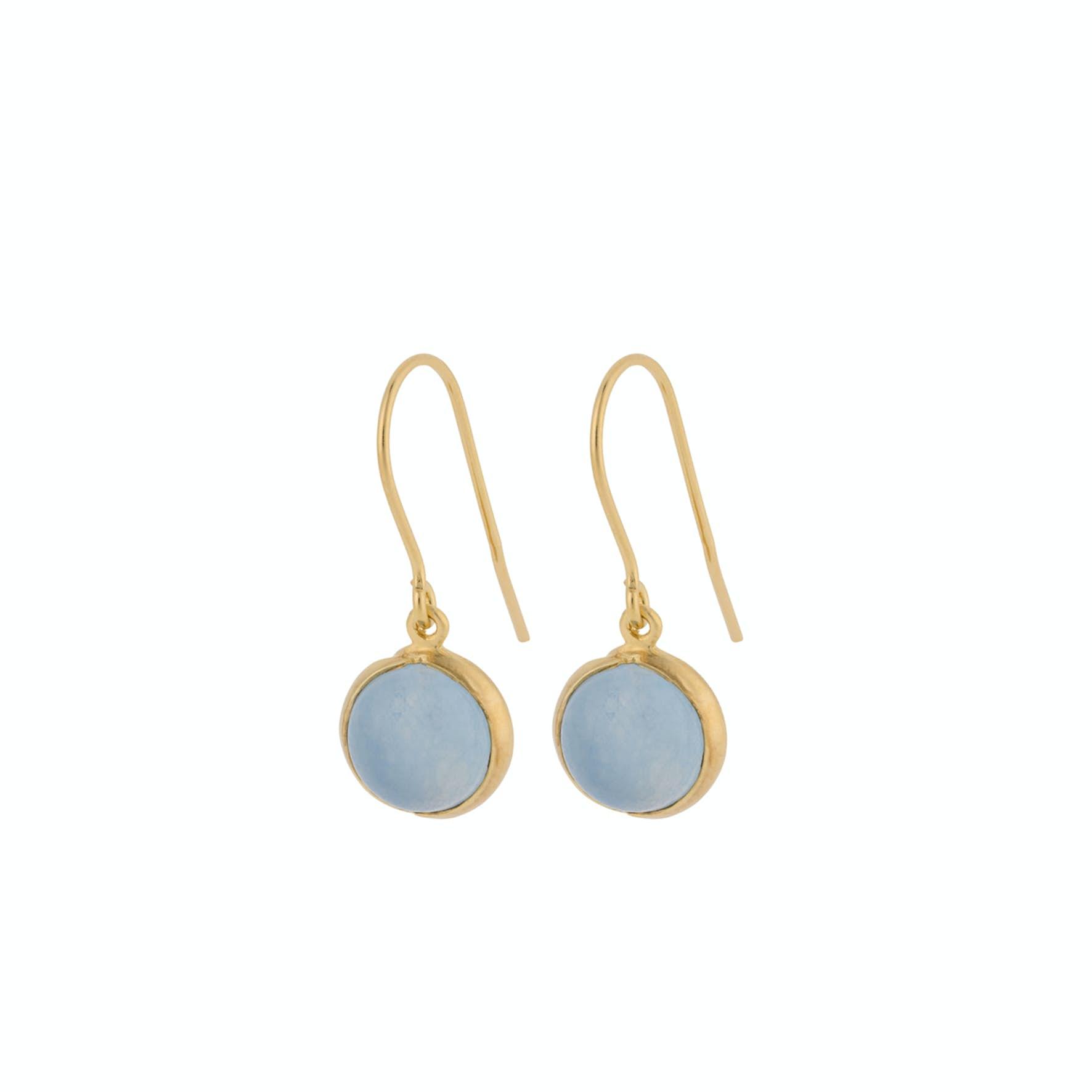 Aura Blue Earhooks från Pernille Corydon i Förgyllt-Silver Sterling 925
