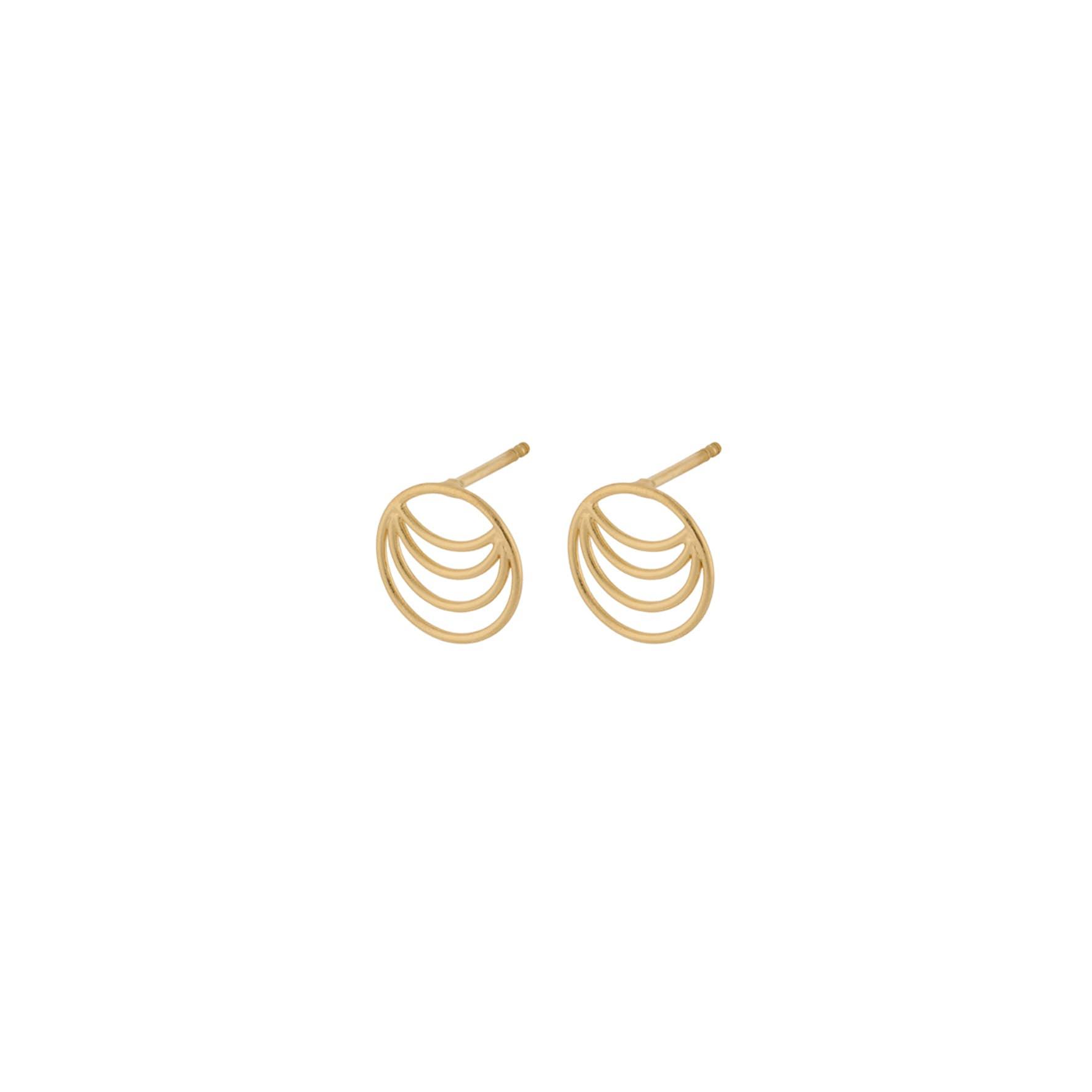 Silhouette Earsticks von Pernille Corydon in Vergoldet-Silber Sterling 925
