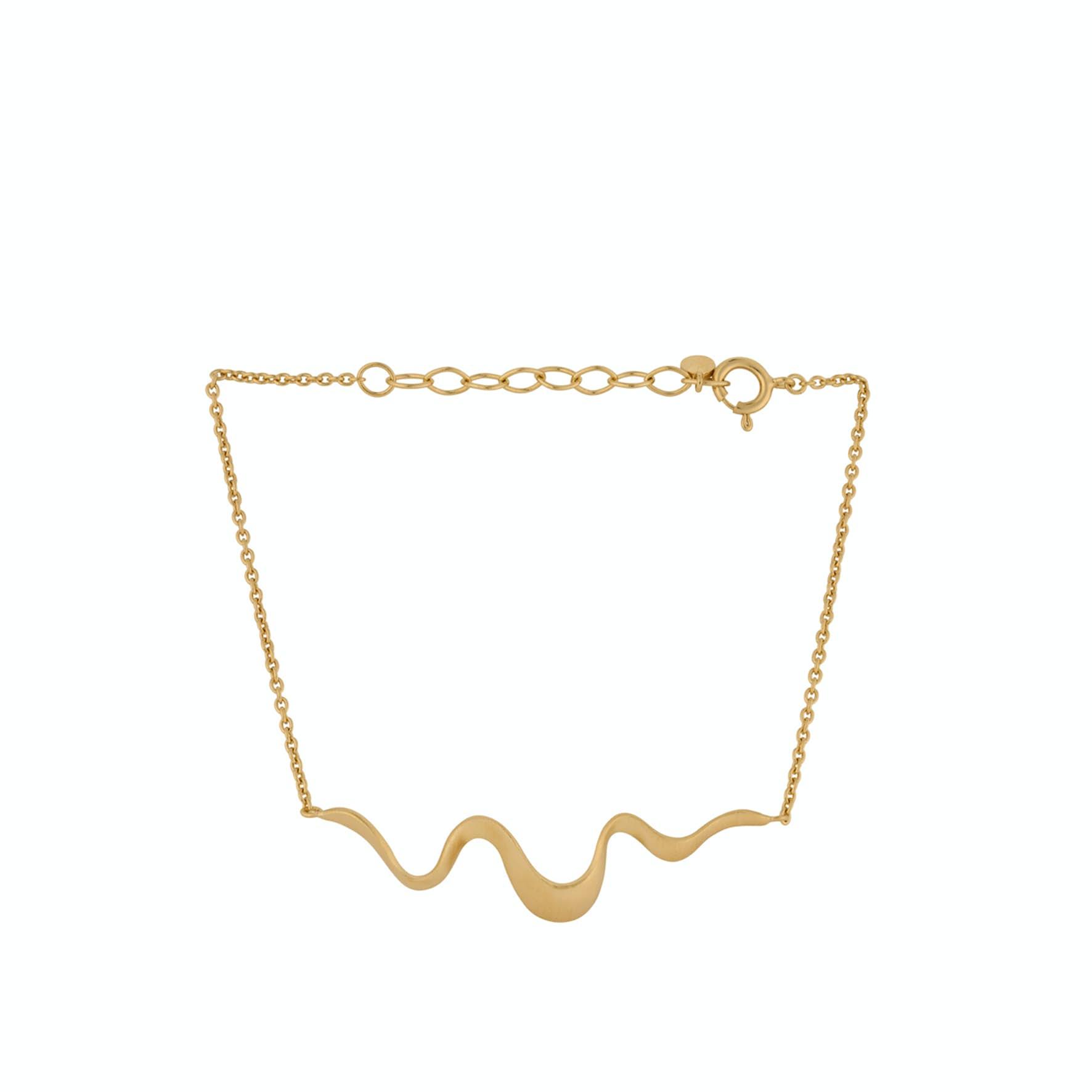 Wave Bracelet von Pernille Corydon in Vergoldet-Silber Sterling 925