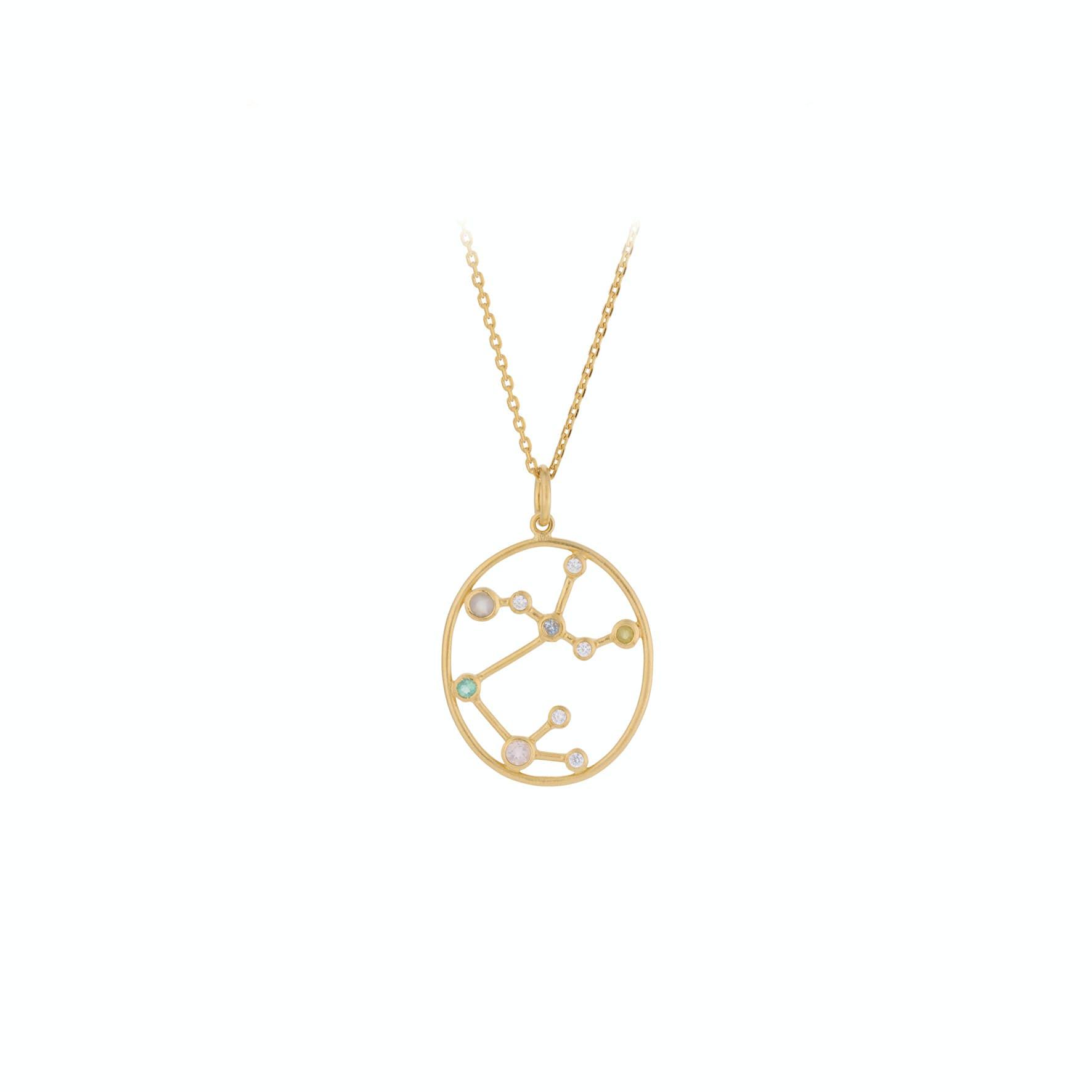 Zodiac Sagittarius Necklace (Nov 23 - Dec 21) von Pernille Corydon in Vergoldet-Silber Sterling 925