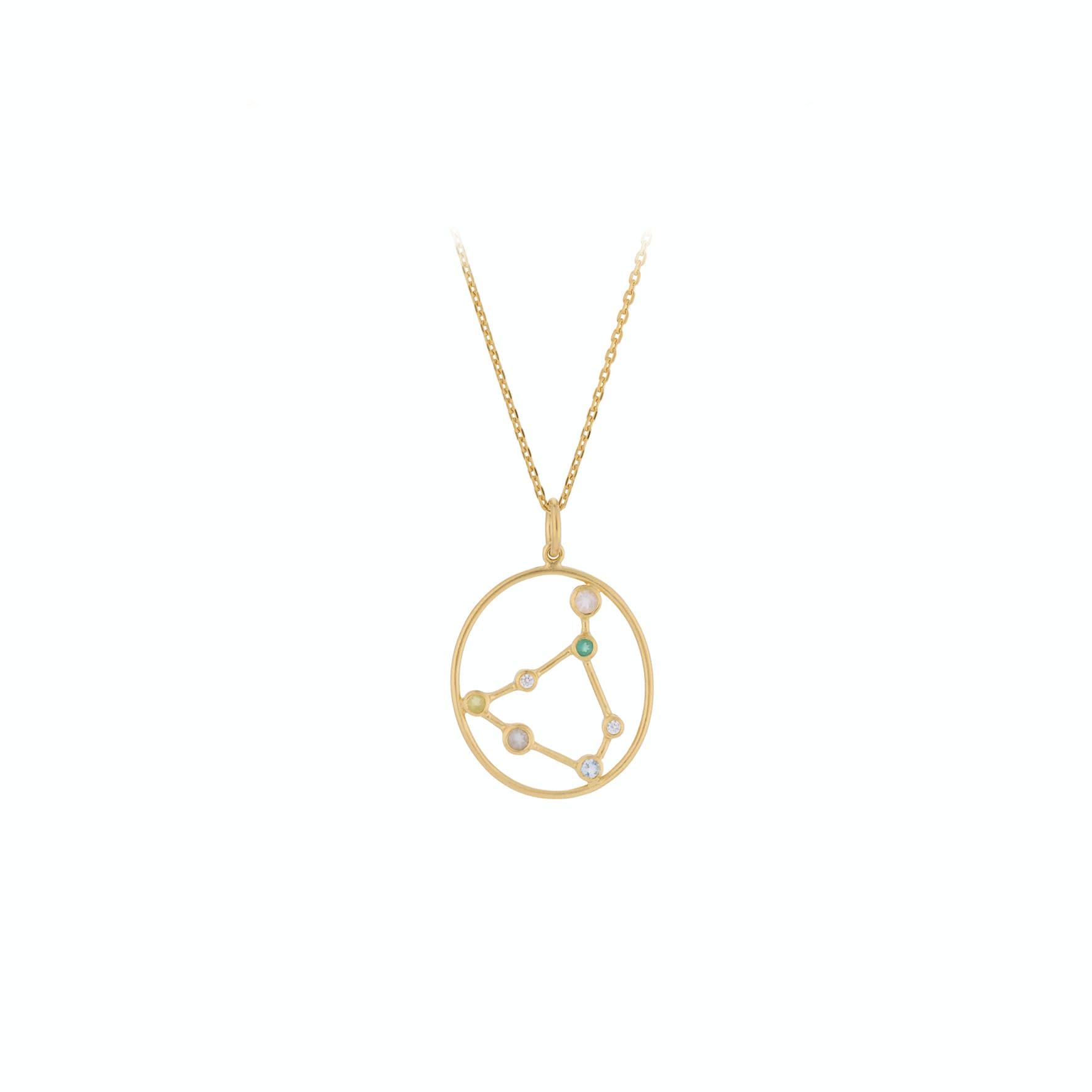 Zodiac Capricorn Necklace (Dec 22 - Jan 19) von Pernille Corydon in Vergoldet-Silber Sterling 925