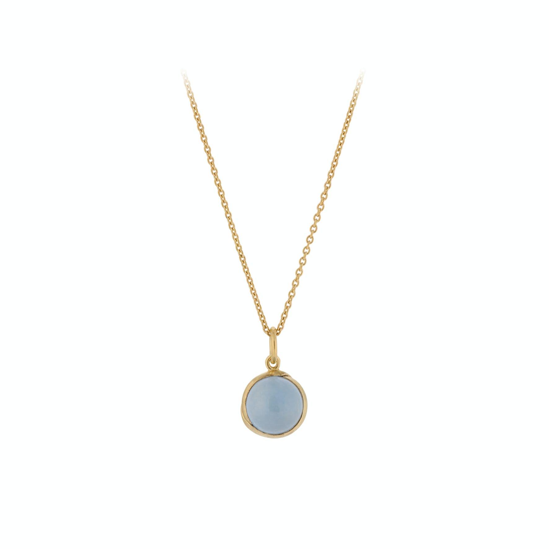 Aura Blue Necklace von Pernille Corydon in Vergoldet-Silber Sterling 925