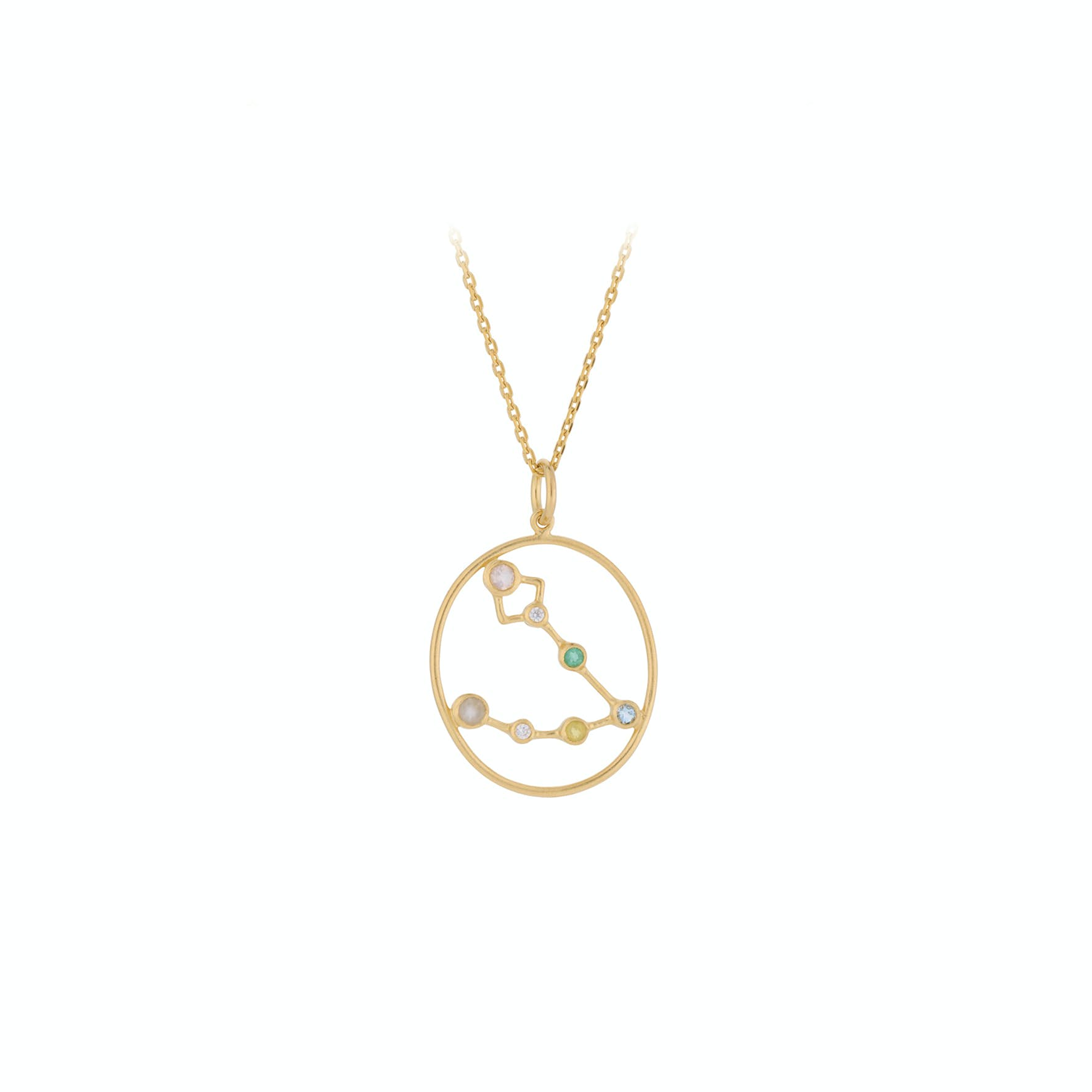 Zodiac Pisces Necklace (Feb 19 - Mar 20) von Pernille Corydon in Vergoldet-Silber Sterling 925