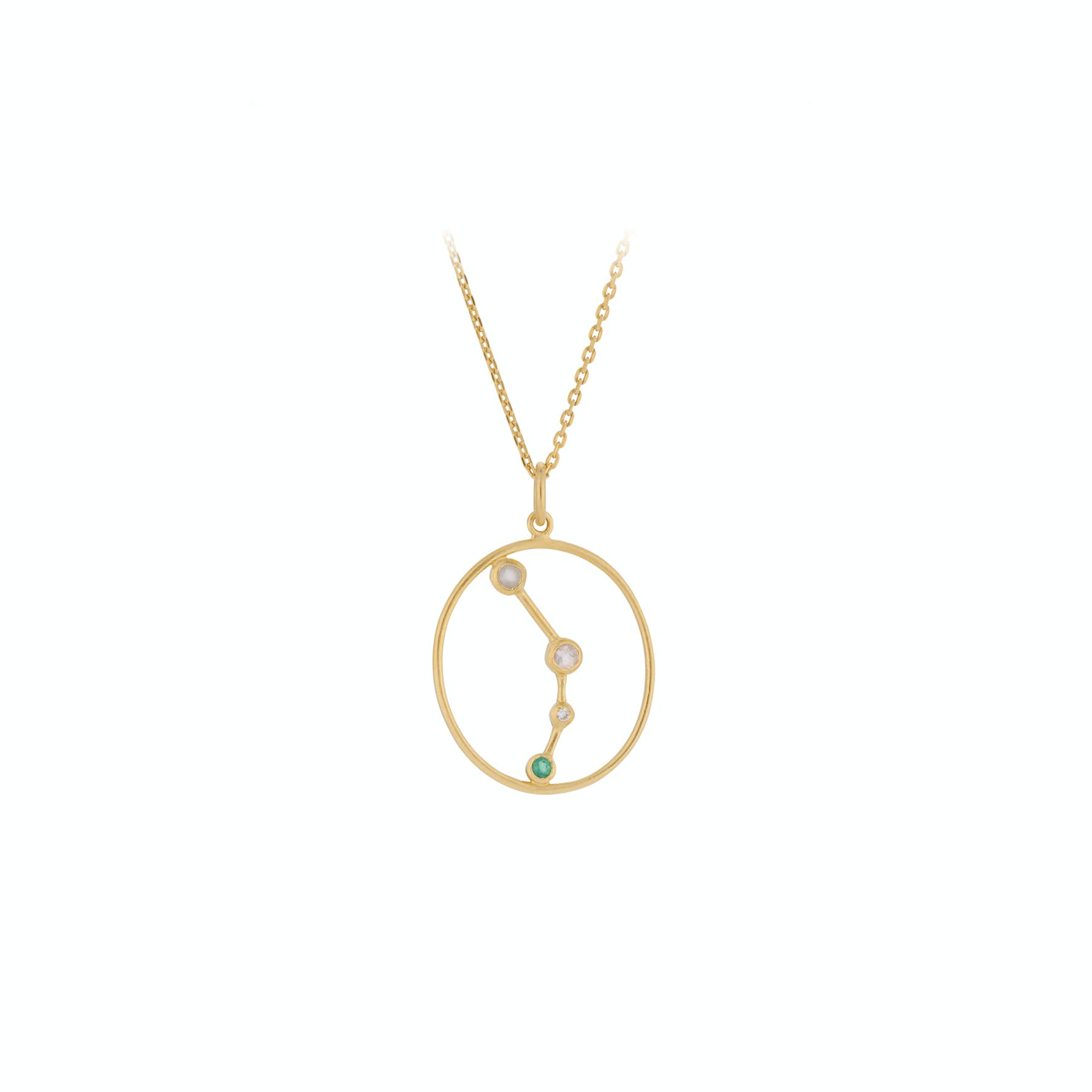 Zodiac Aries Necklace (Mar 21 - Apr 19) von Pernille Corydon in Vergoldet-Silber Sterling 925