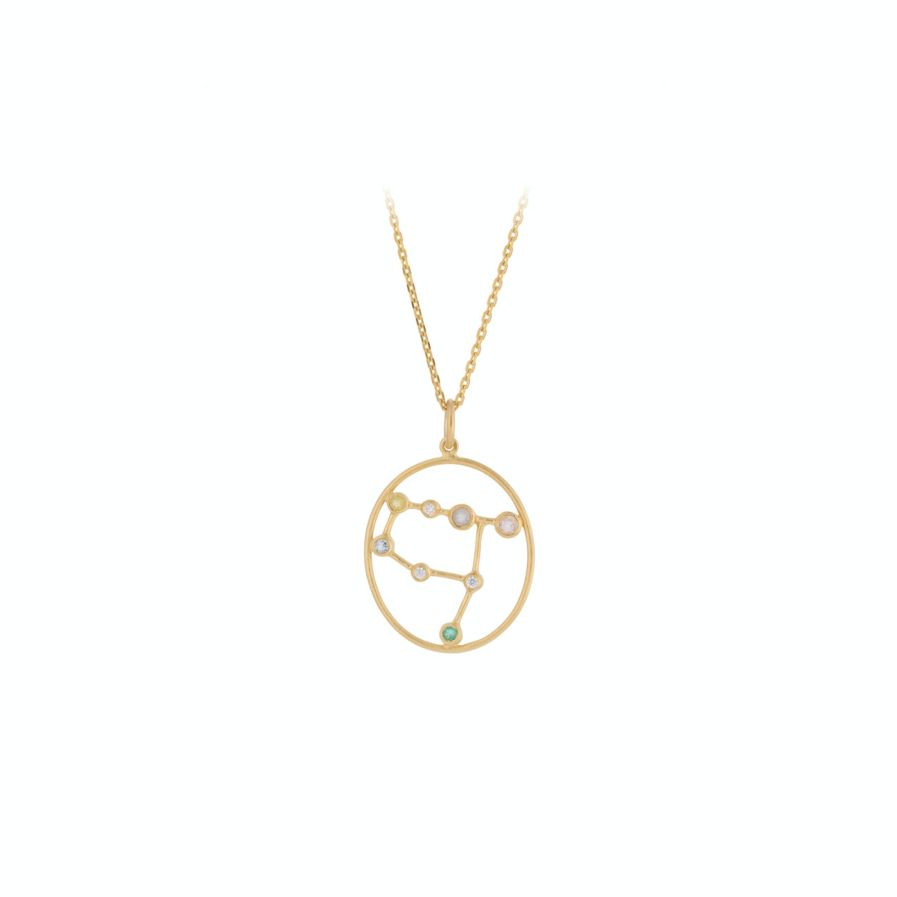 Zodiac Gemini Necklace (May 22 - June 21) von Pernille Corydon in Vergoldet-Silber Sterling 925