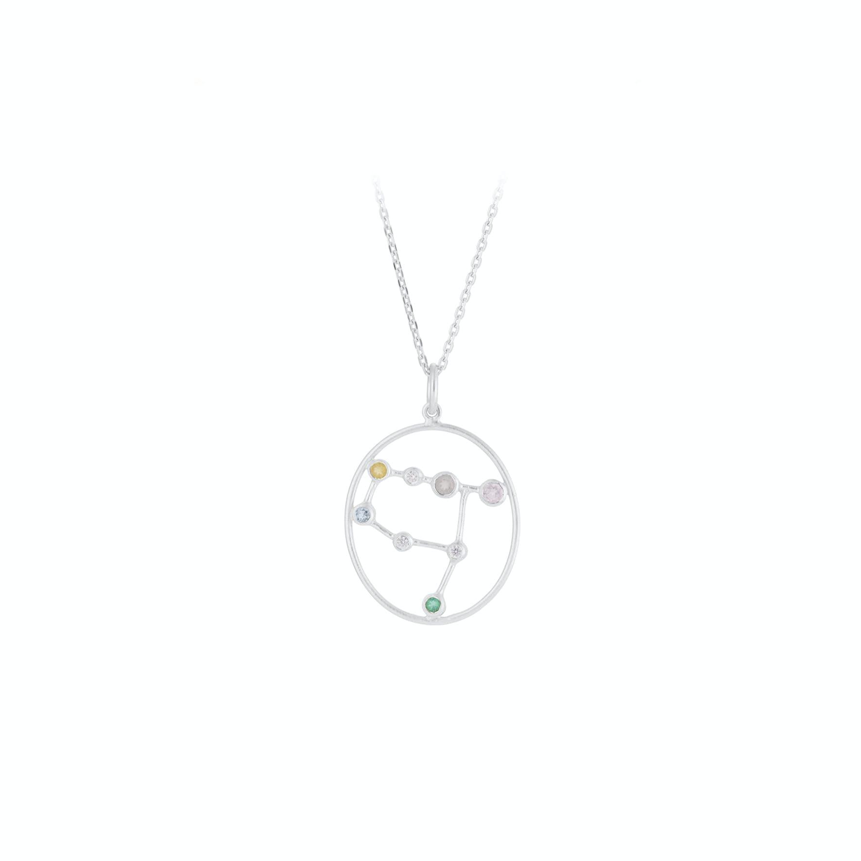 Zodiac Gemini Necklace (May 22 - June 21) von Pernille Corydon in Silber Sterling 925