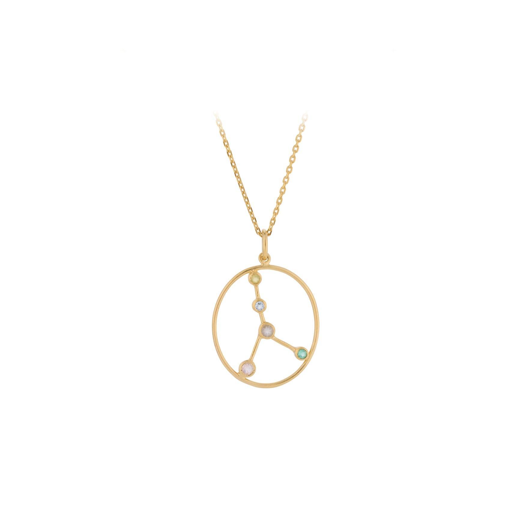 Zodiac Cancer Necklace (Jun 22 - Jul 21) von Pernille Corydon in Vergoldet-Silber Sterling 925