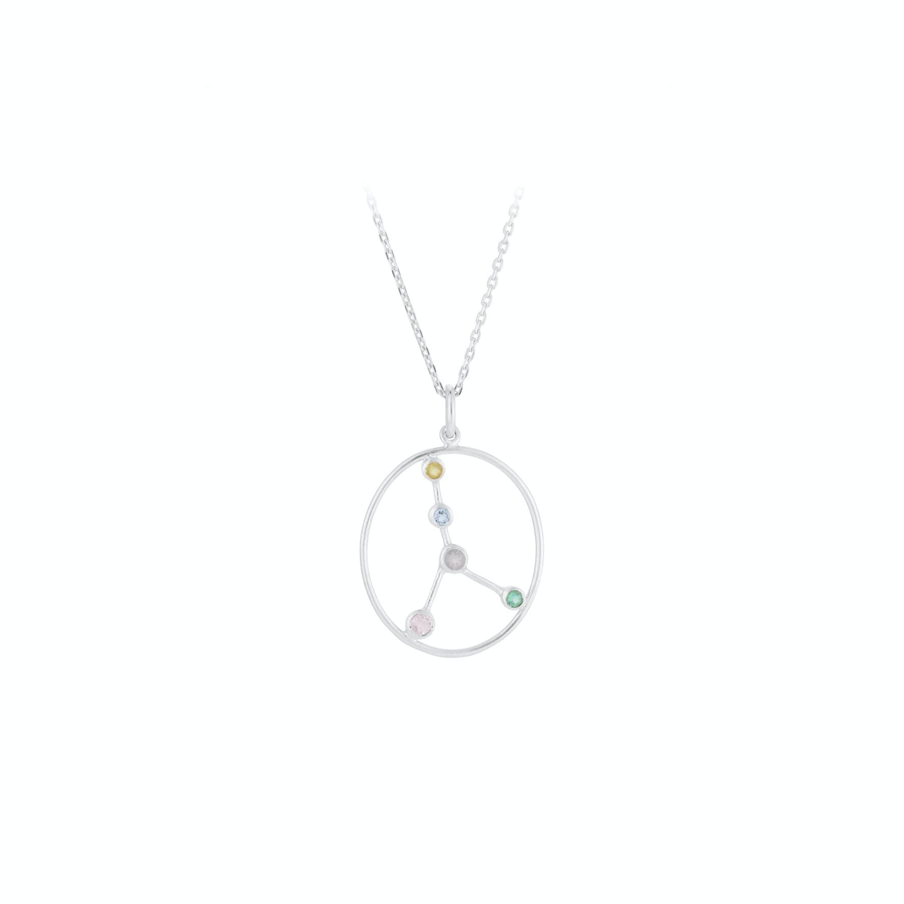 Zodiac Cancer Necklace (Jun 22 - Jul 21) von Pernille Corydon in Silber Sterling 925