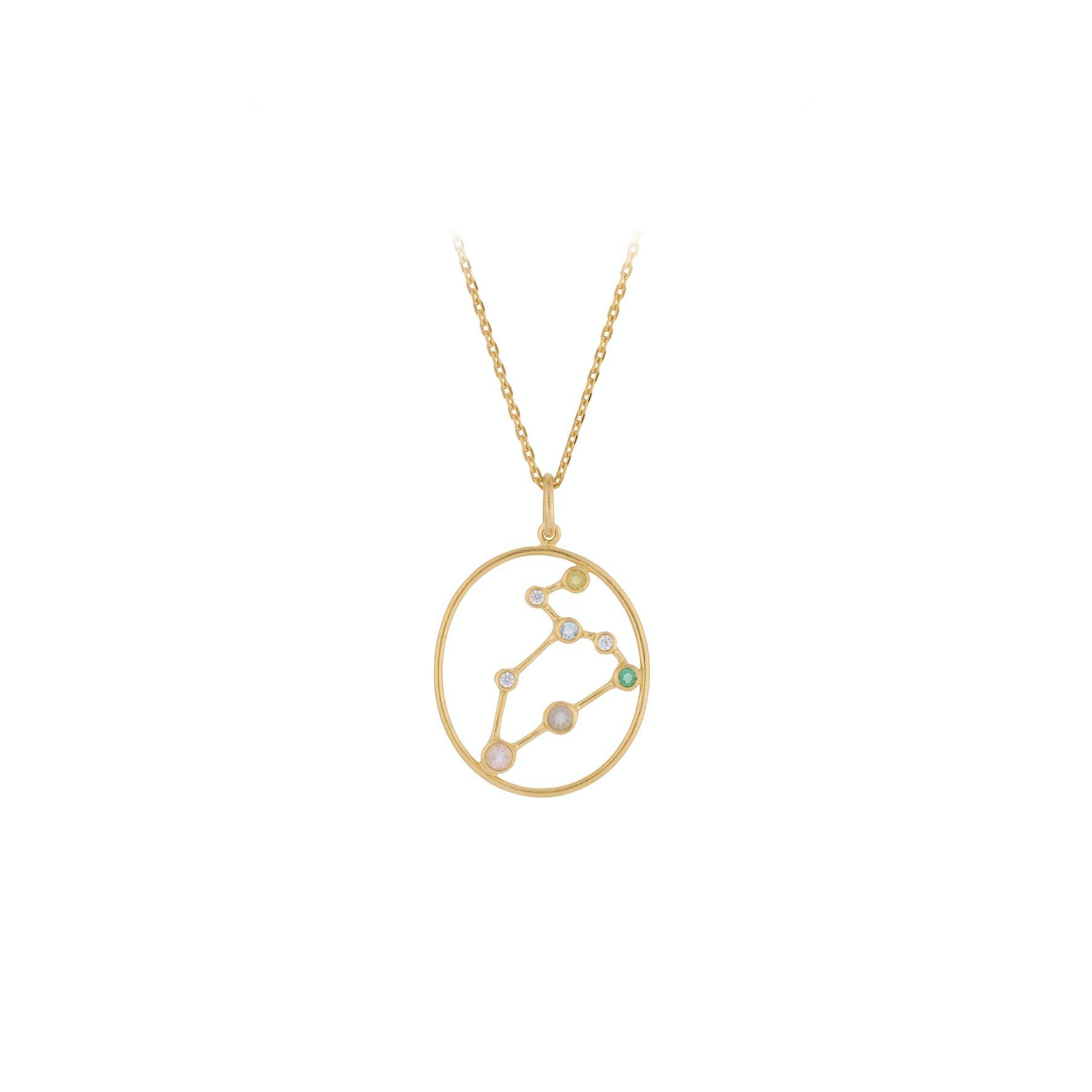 Zodiac Leo Necklace (Jul 23 -  Aug 22) von Pernille Corydon in Vergoldet-Silber Sterling 925