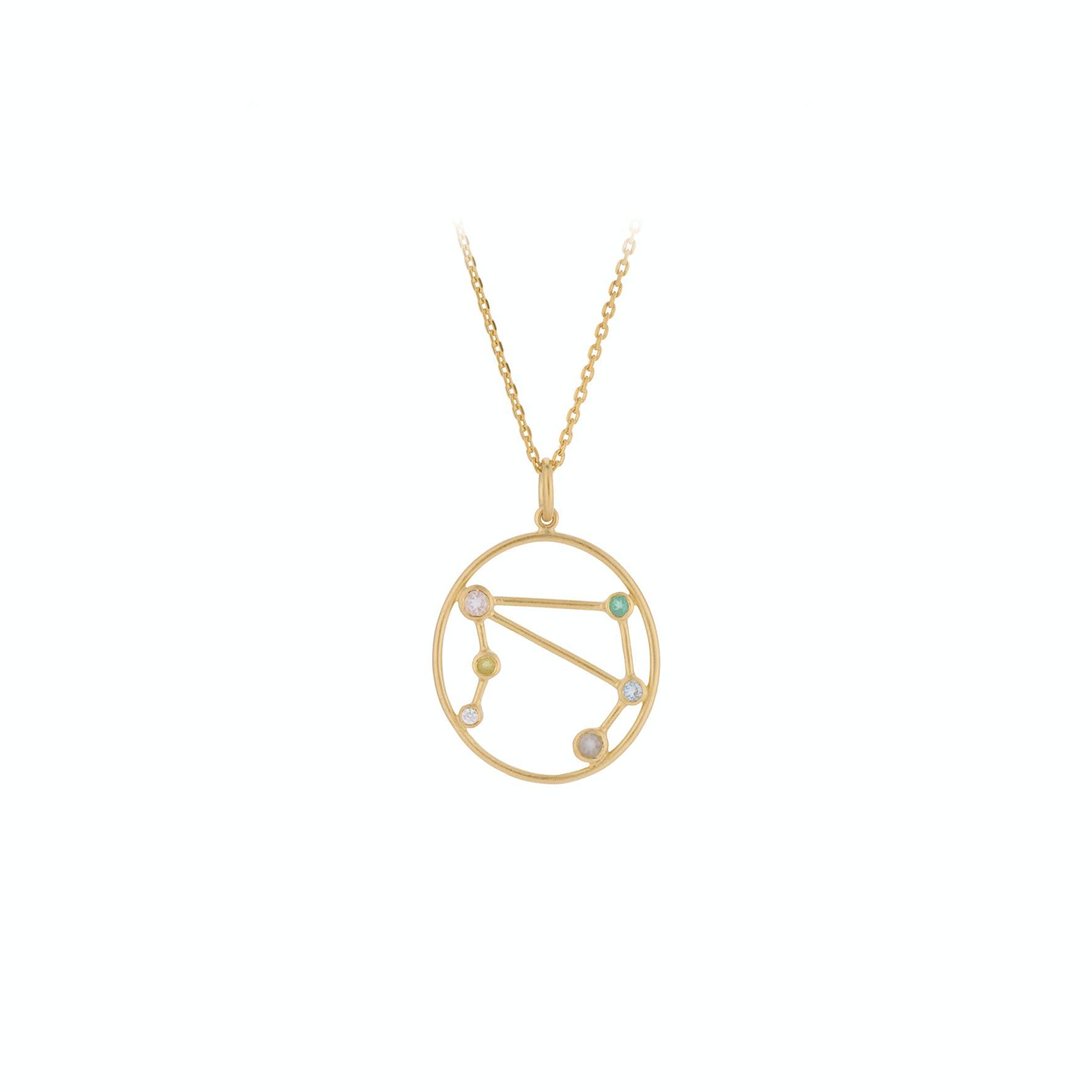 Zodiac Libra Necklace (Sep 23 - Oct 22) von Pernille Corydon in Vergoldet-Silber Sterling 925
