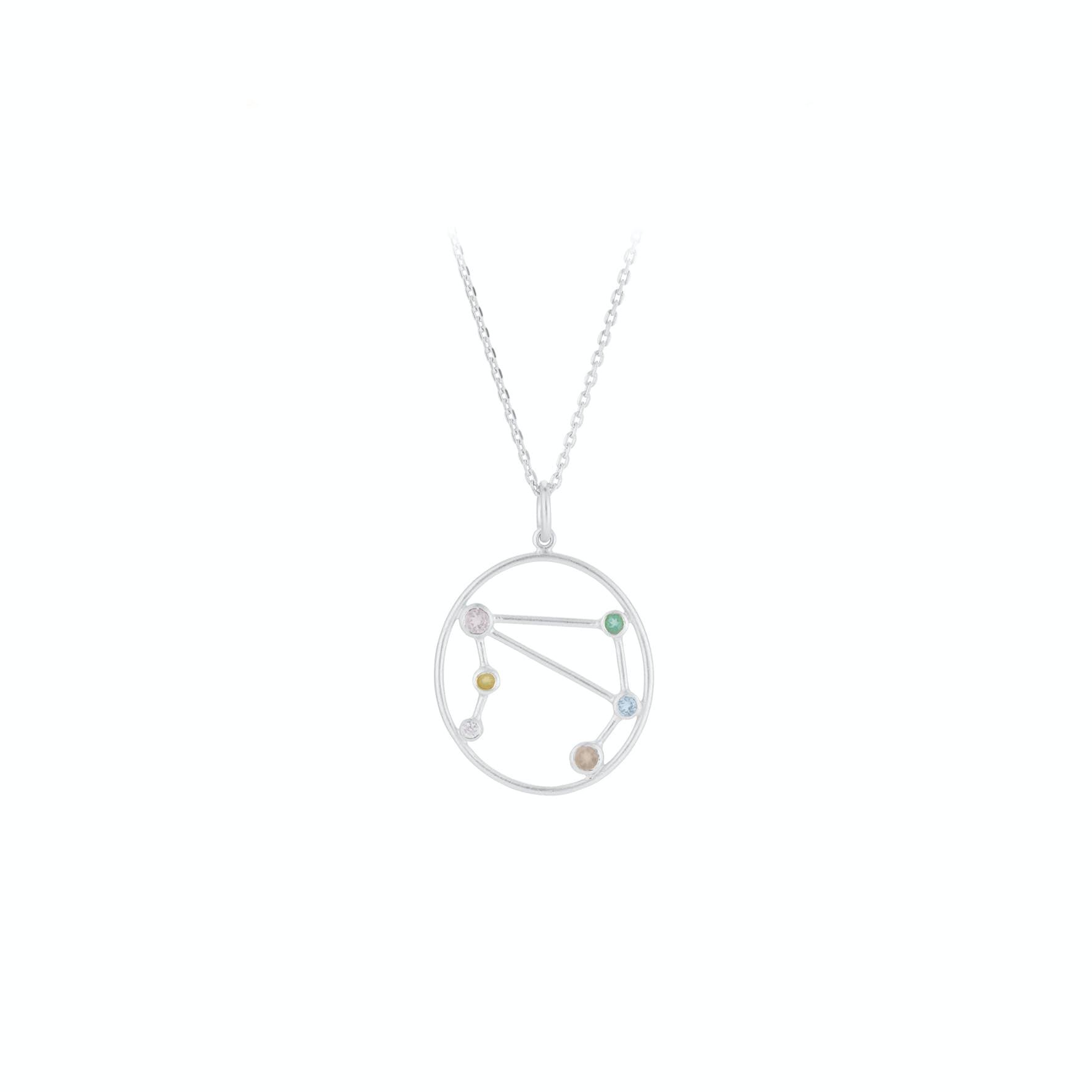 Zodiac Libra Necklace (Sep 23 - Oct 22) von Pernille Corydon in Silber Sterling 925