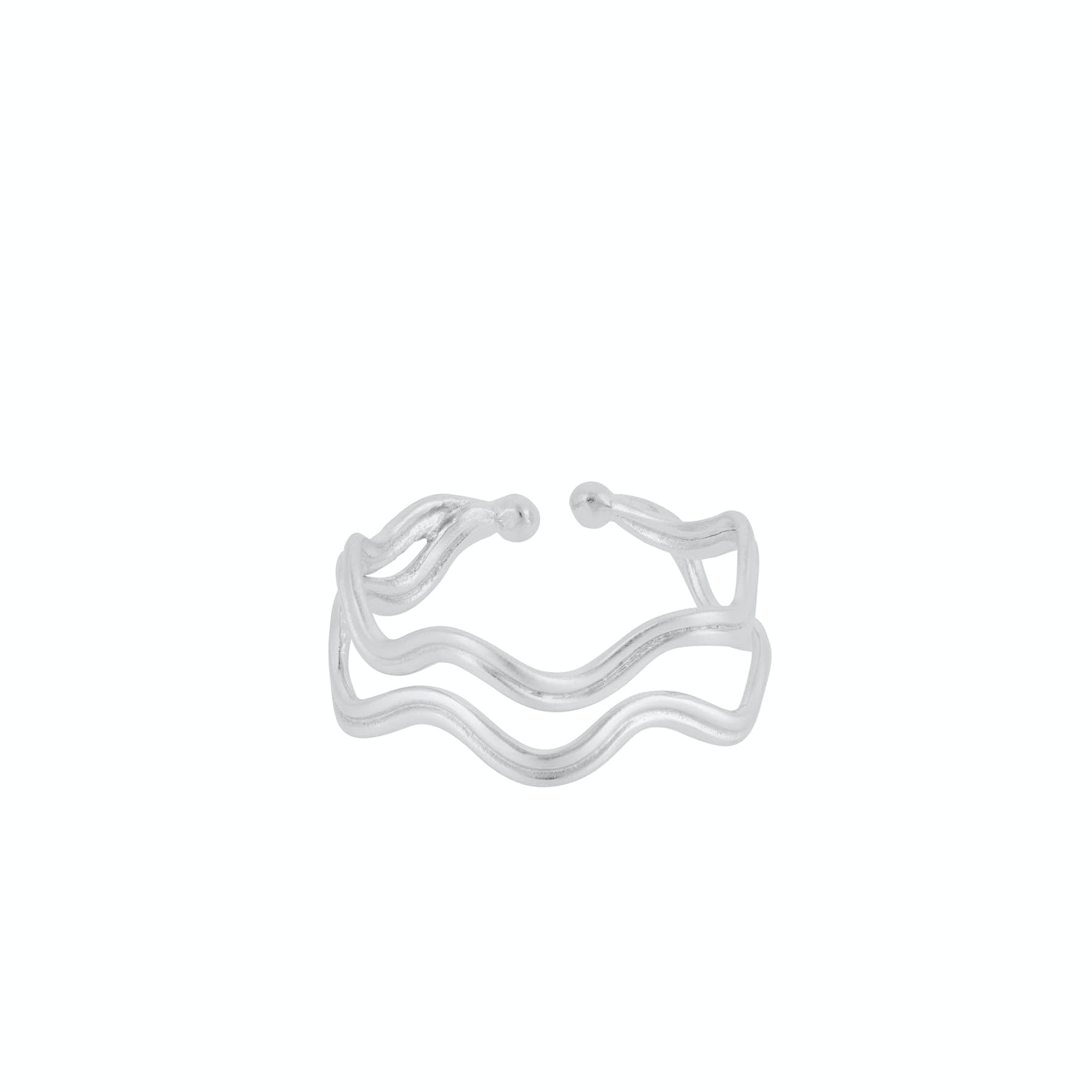 Double Wave Ring from Pernille Corydon in Silver Sterling 925