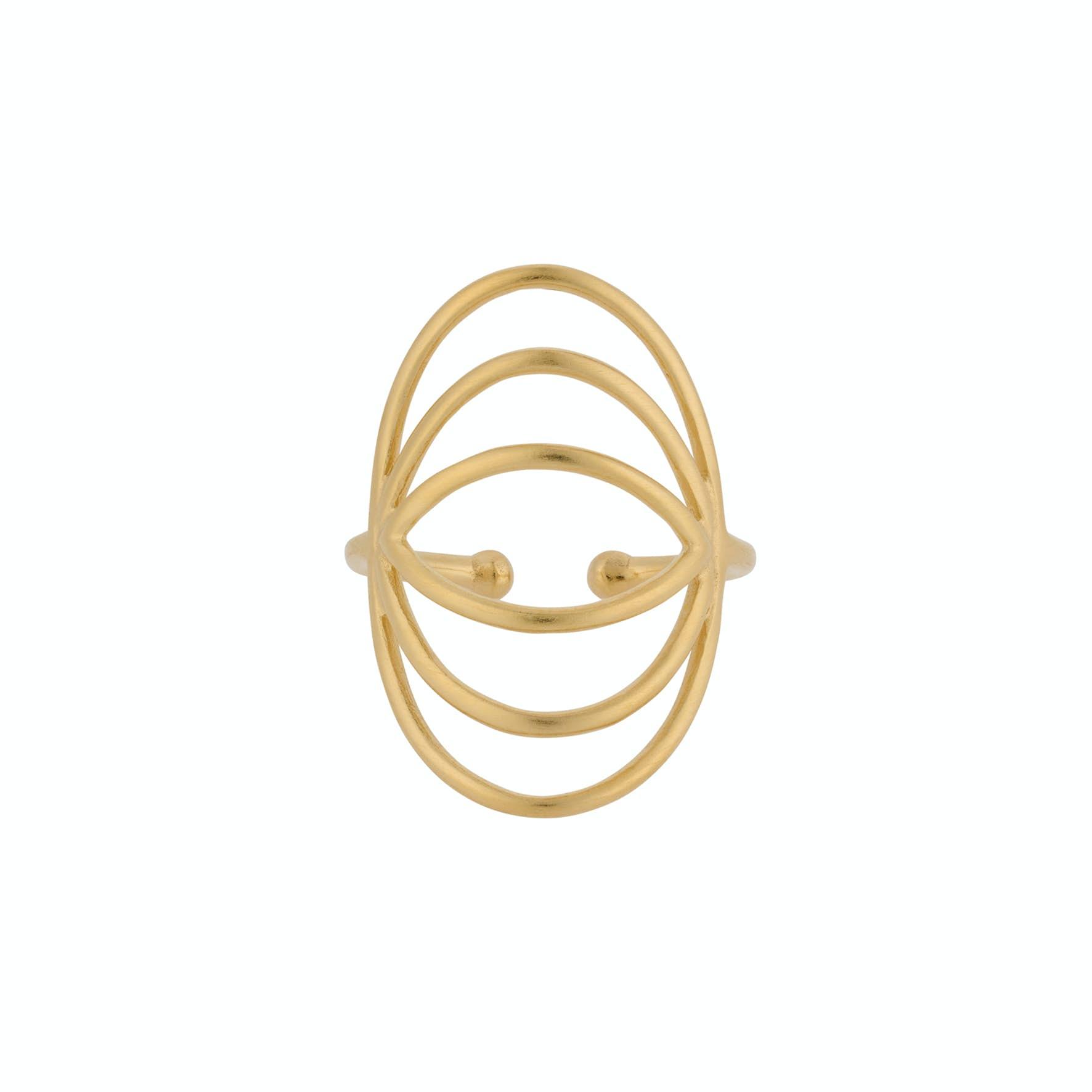 Silhouette Ring von Pernille Corydon in Vergoldet-Silber Sterling 925