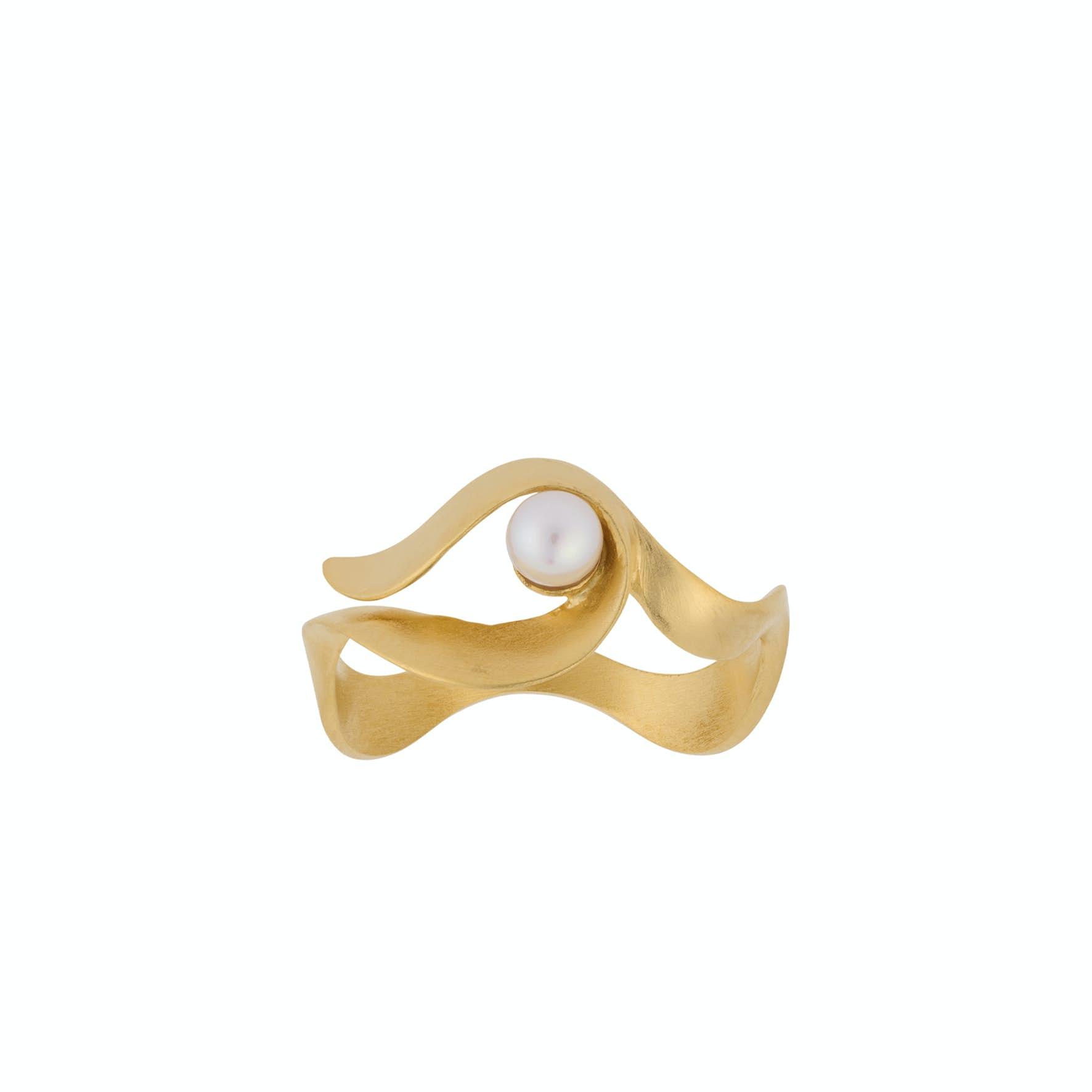 Ocean Wave Ring fra Pernille Corydon i Forgylt-Sølv Sterling 925
