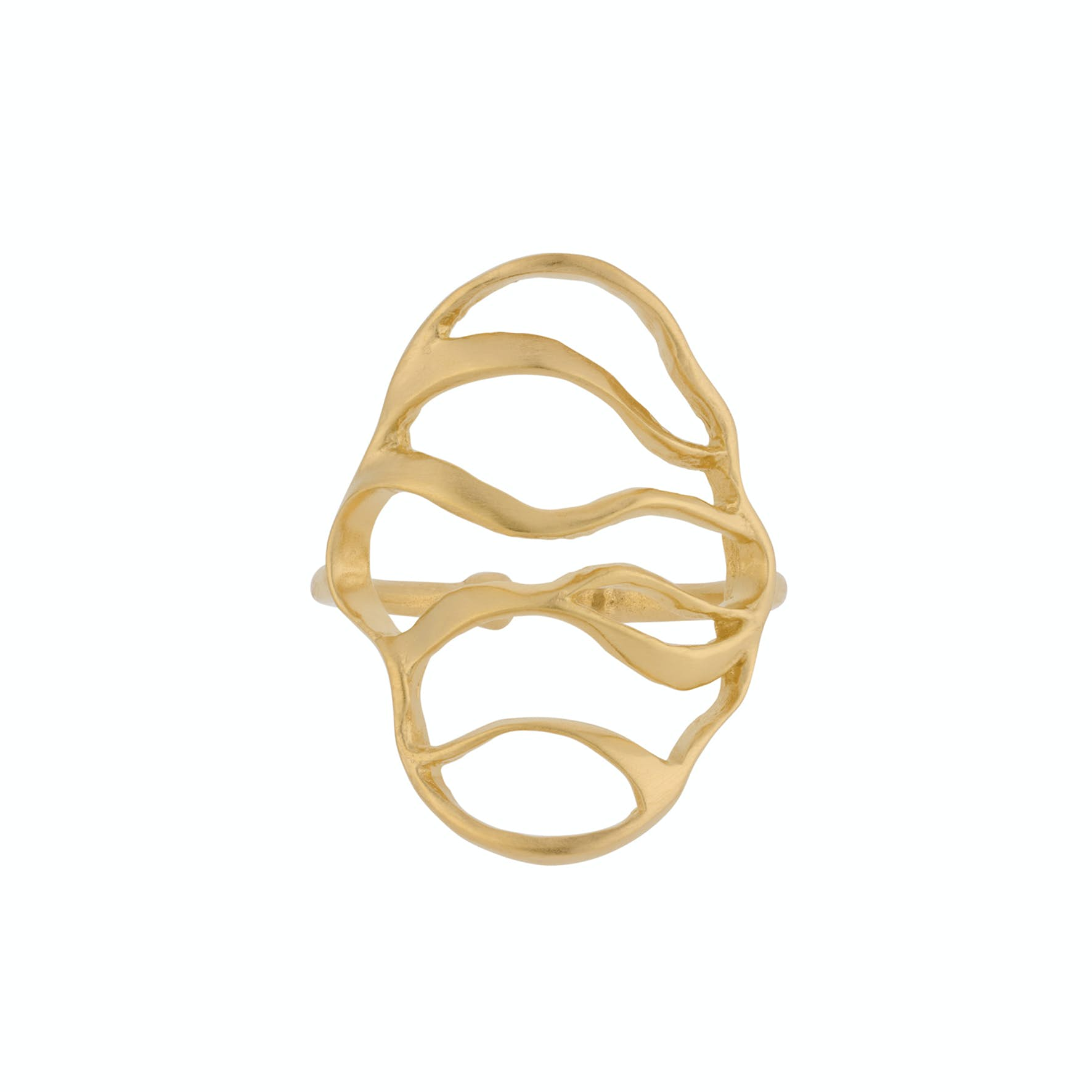 Wave Ring von Pernille Corydon in Vergoldet-Silber Sterling 925