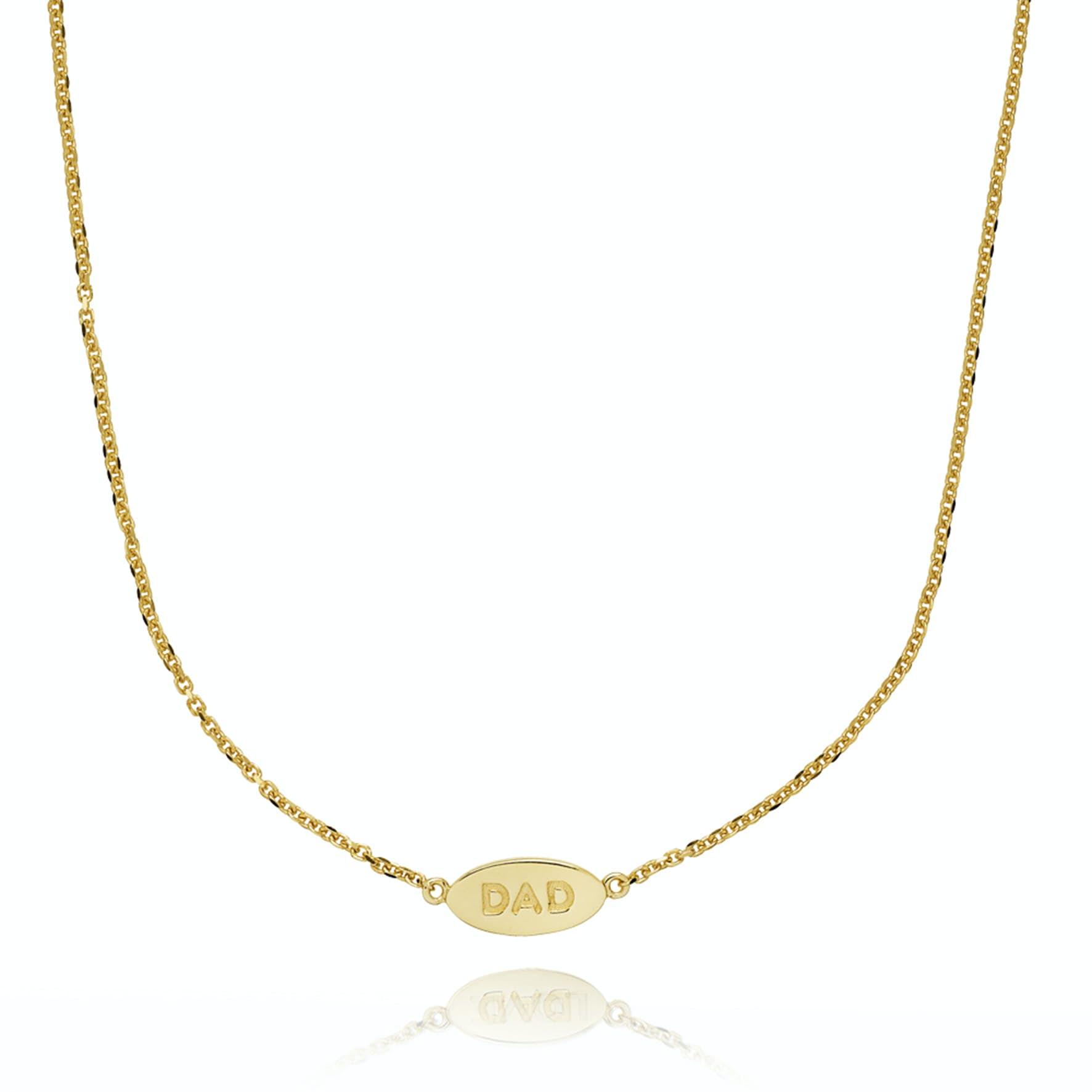Fam Dad Necklace von Sistie in Vergoldet-Silber Sterling 925