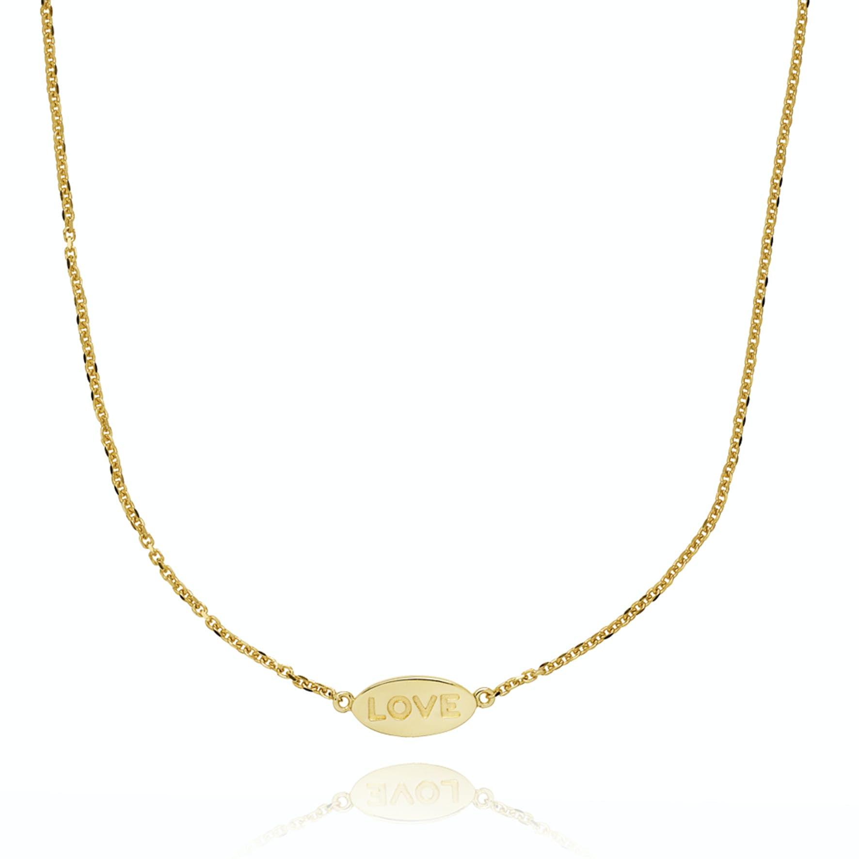Fam Love Necklace von Sistie in Vergoldet-Silber Sterling 925
