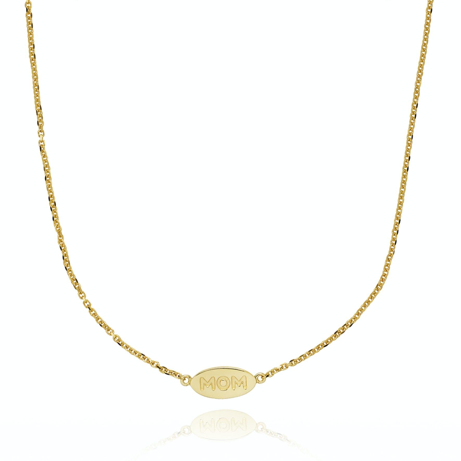 Fam Mom Necklace von Sistie in Vergoldet-Silber Sterling 925