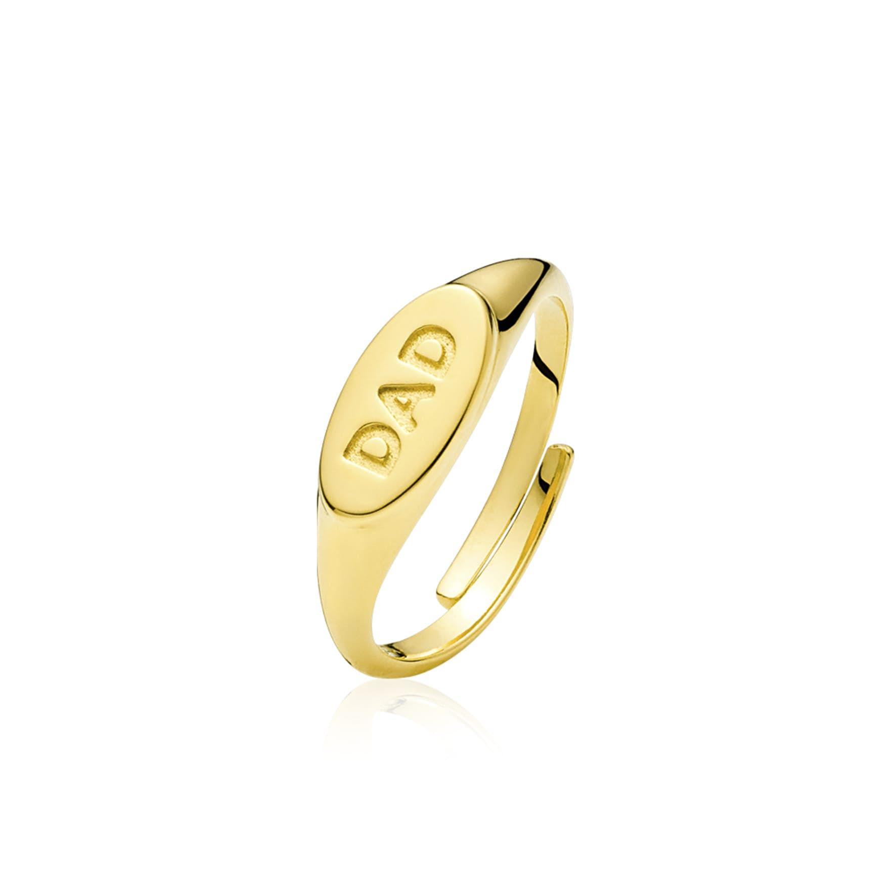 Fam Dad Ring fra Sistie i Forgylt-Sølv Sterling 925