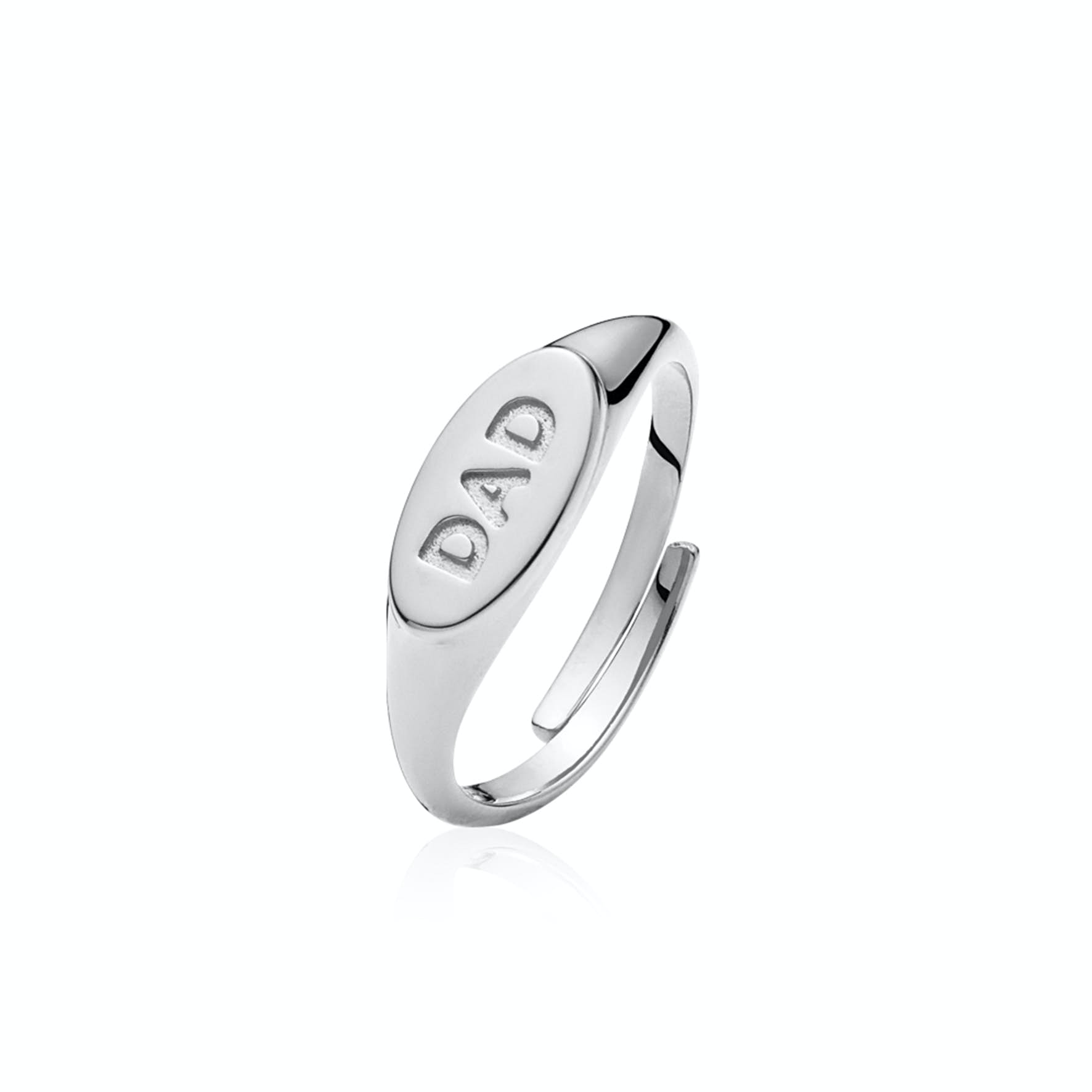 Fam Dad Ring from Sistie in Silver Sterling 925
