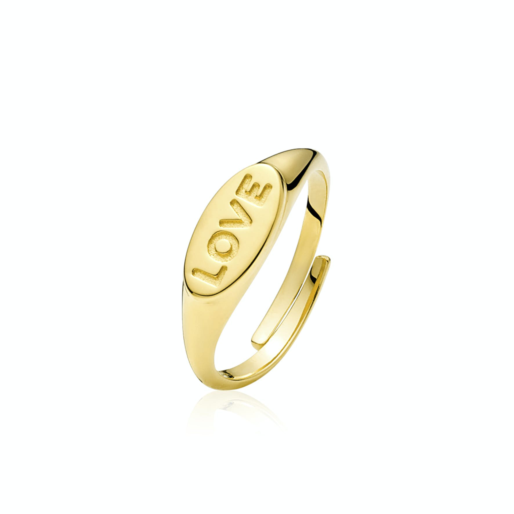 Fam Love Ring from Sistie in Goldplated-Silver Sterling 925