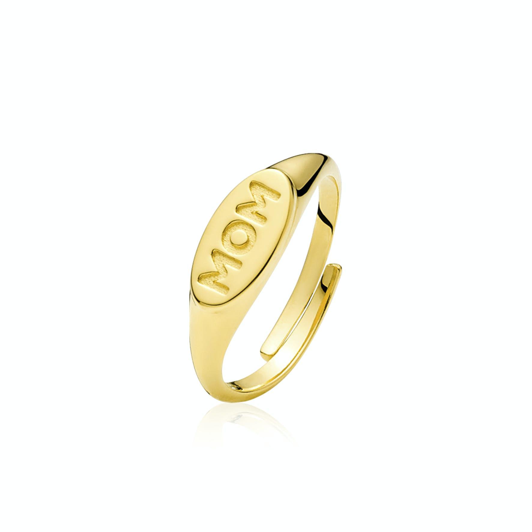 Fam Mom Ring fra Sistie i Forgyldt-Sølv Sterling 925