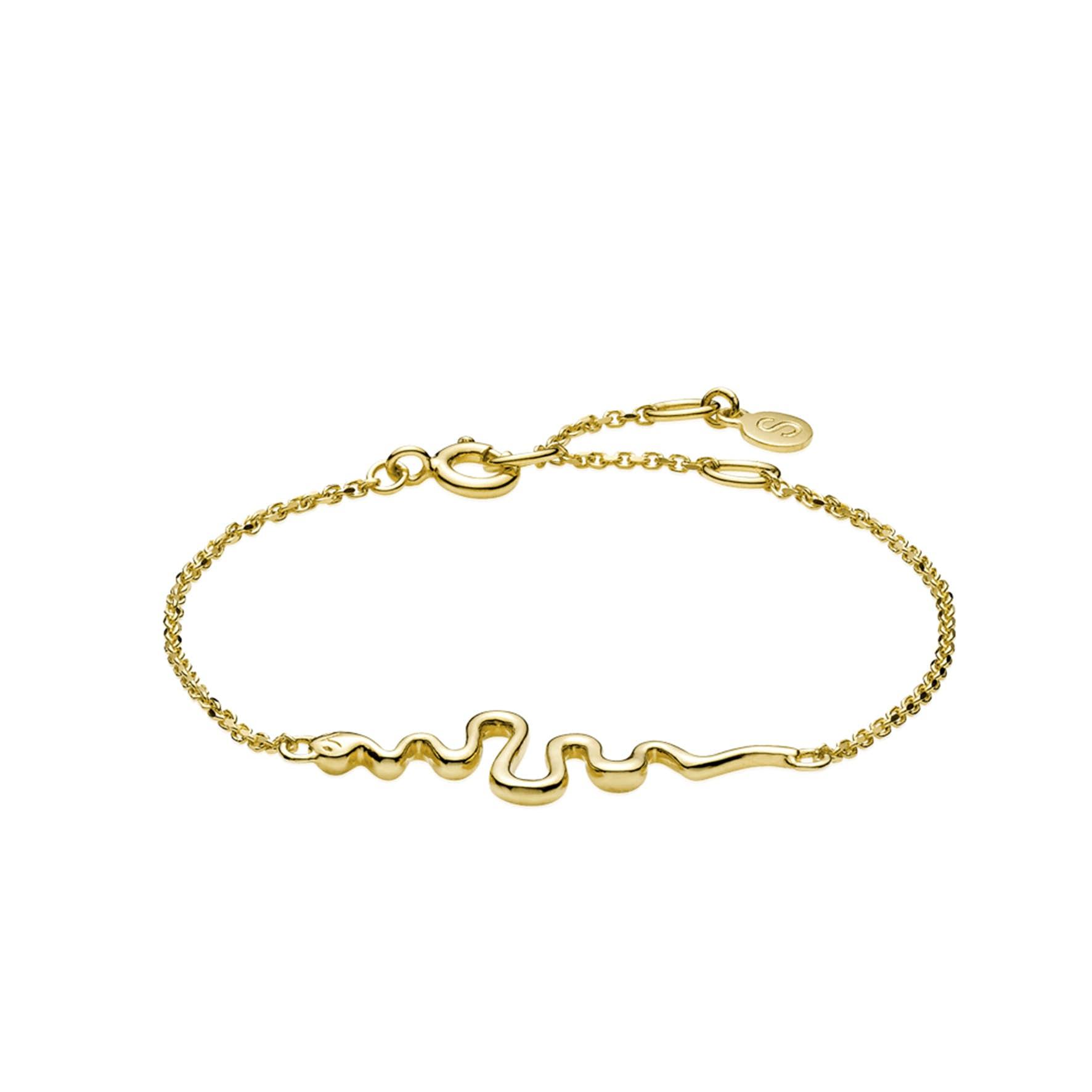 Young One Snake Bracelet von Sistie in Vergoldet-Silber Sterling 925