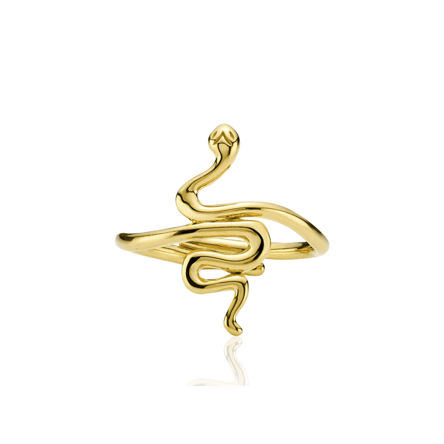Young One Snake Ring von Sistie in Vergoldet-Silber Sterling 925