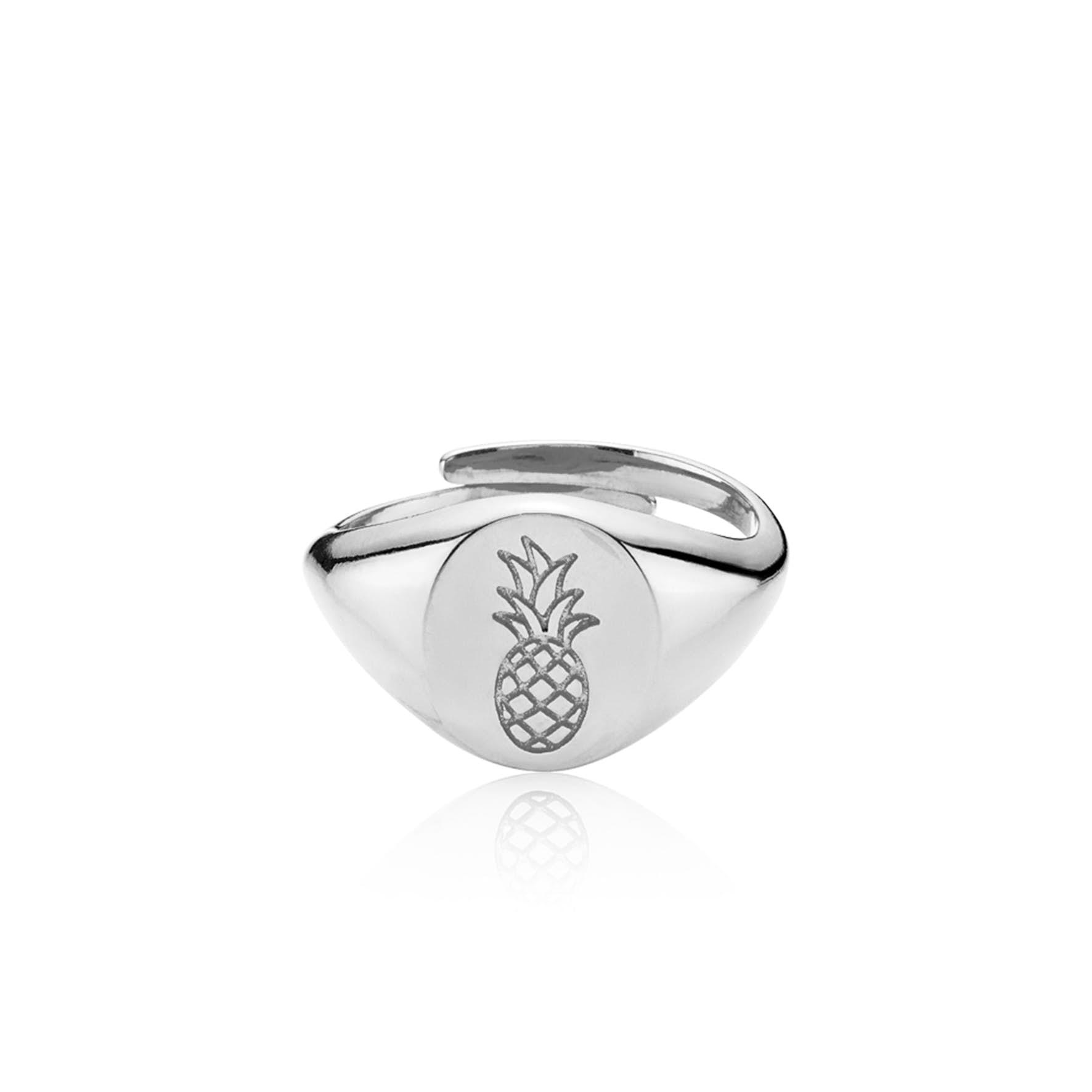 Anna By Sistie Round Ring fra Sistie i Sølv Sterling 925